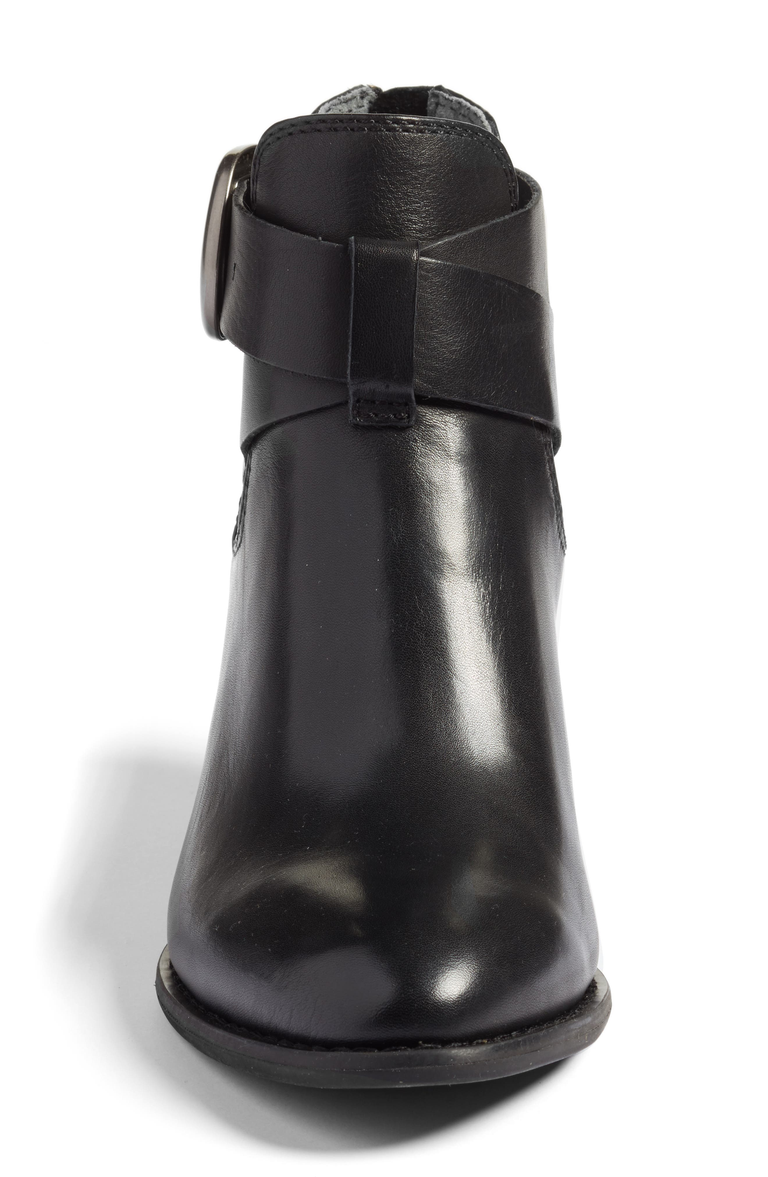 Rory Buckle Strap Bootie,                             Alternate thumbnail 4, color,                             001