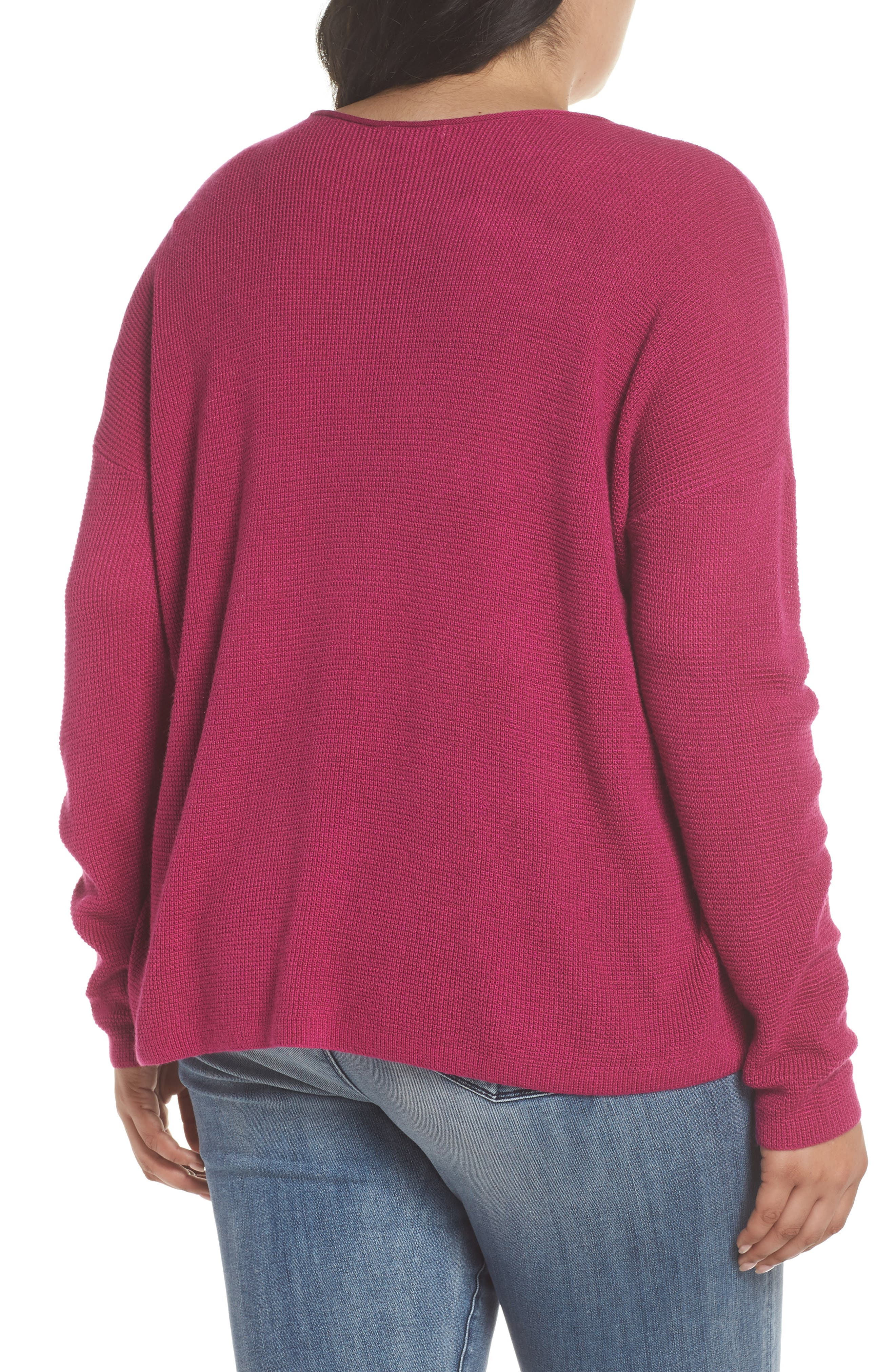 Textured Stitch V-Neck Pullover,                             Alternate thumbnail 9, color,                             651