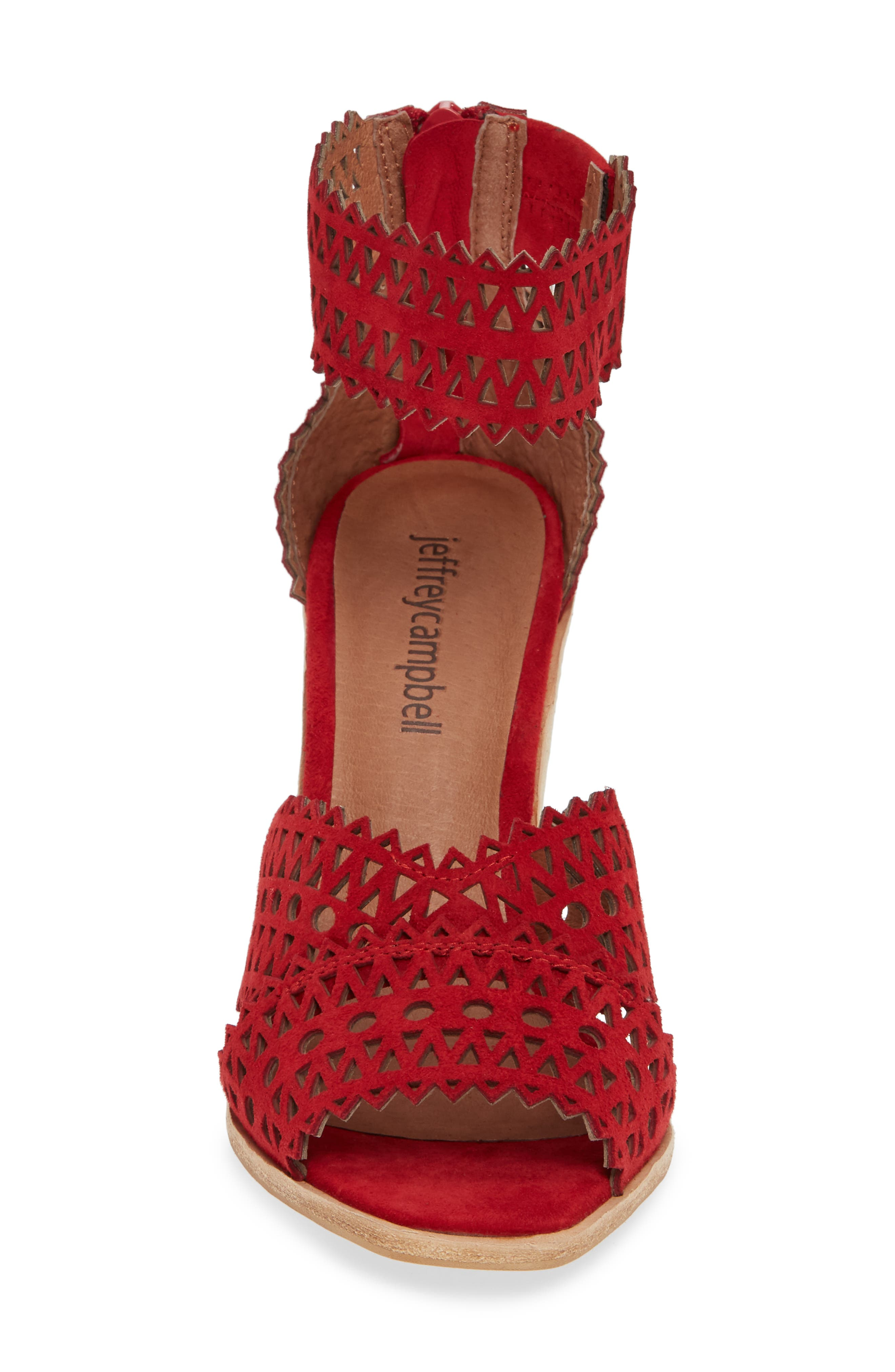 Besante Perforated Wedge Sandal,                             Alternate thumbnail 4, color,                             600