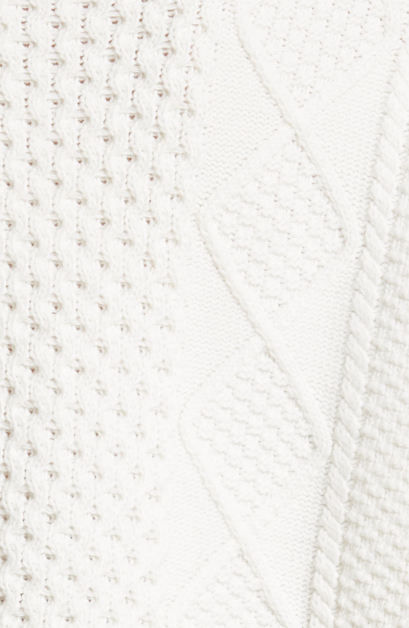 Monster Embroidered Cable Knit Sweater,                             Alternate thumbnail 5, color,                             900