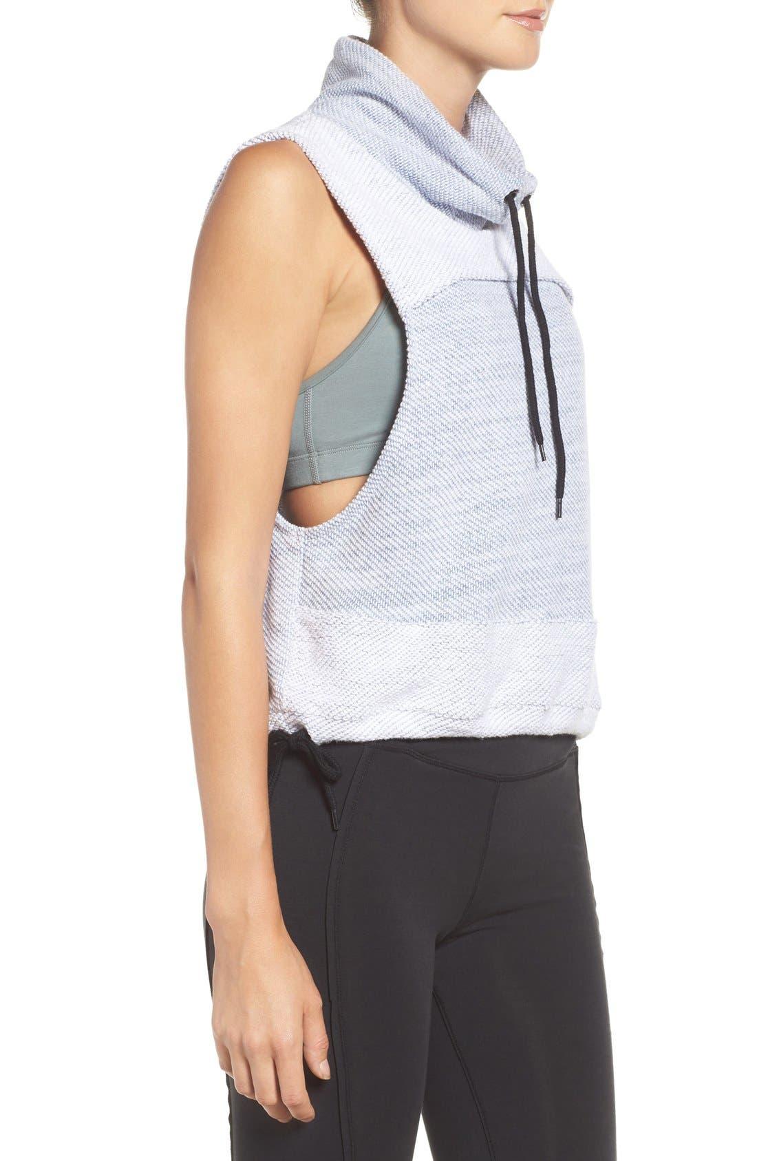 Free People 'Wrap It Up' Funnel Neck Vest,                             Alternate thumbnail 4, color,                             GREY