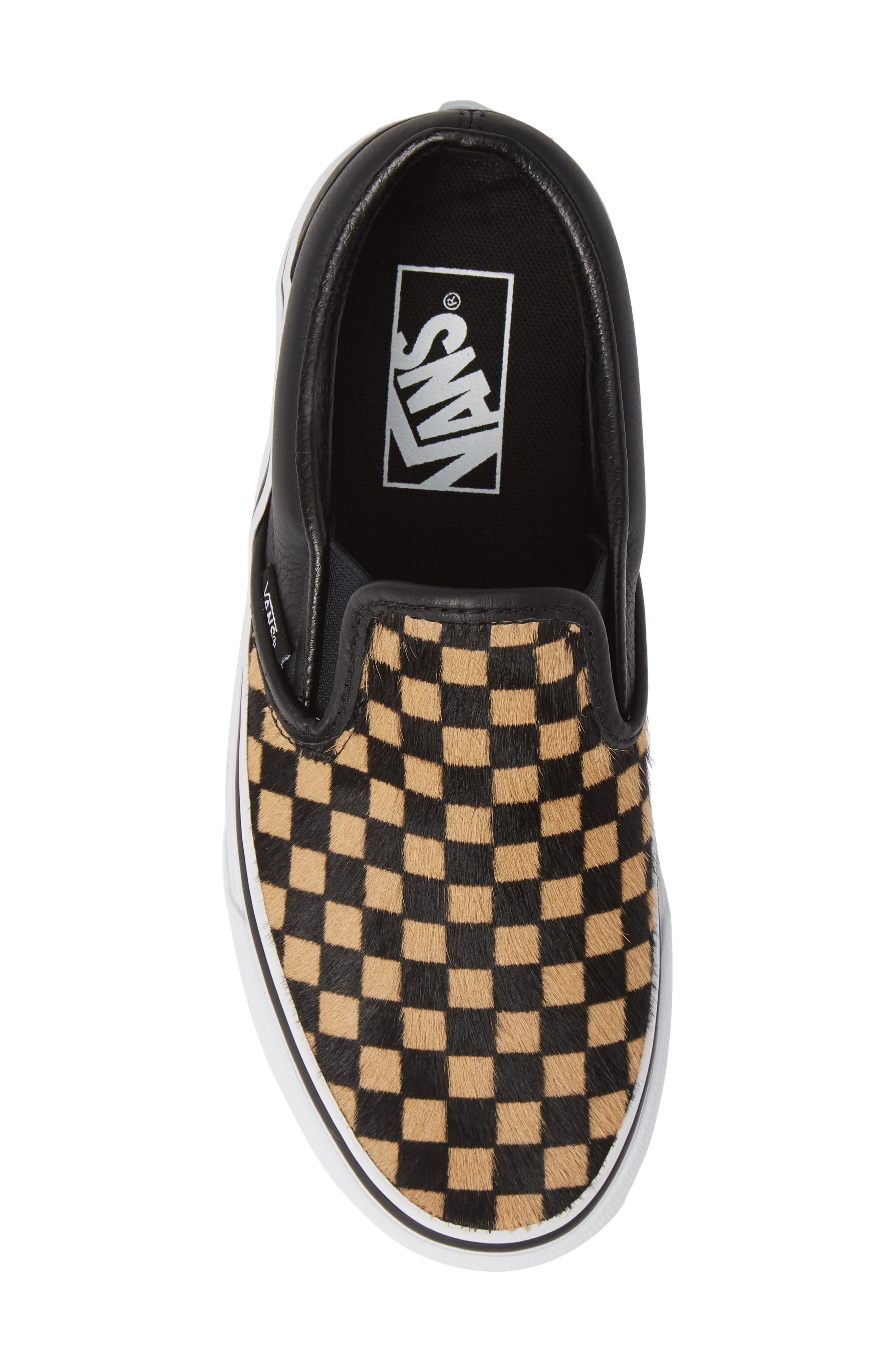 VANS,                             UA Classic Genuine Calf Hair Slip-On Sneaker,                             Alternate thumbnail 5, color,                             001