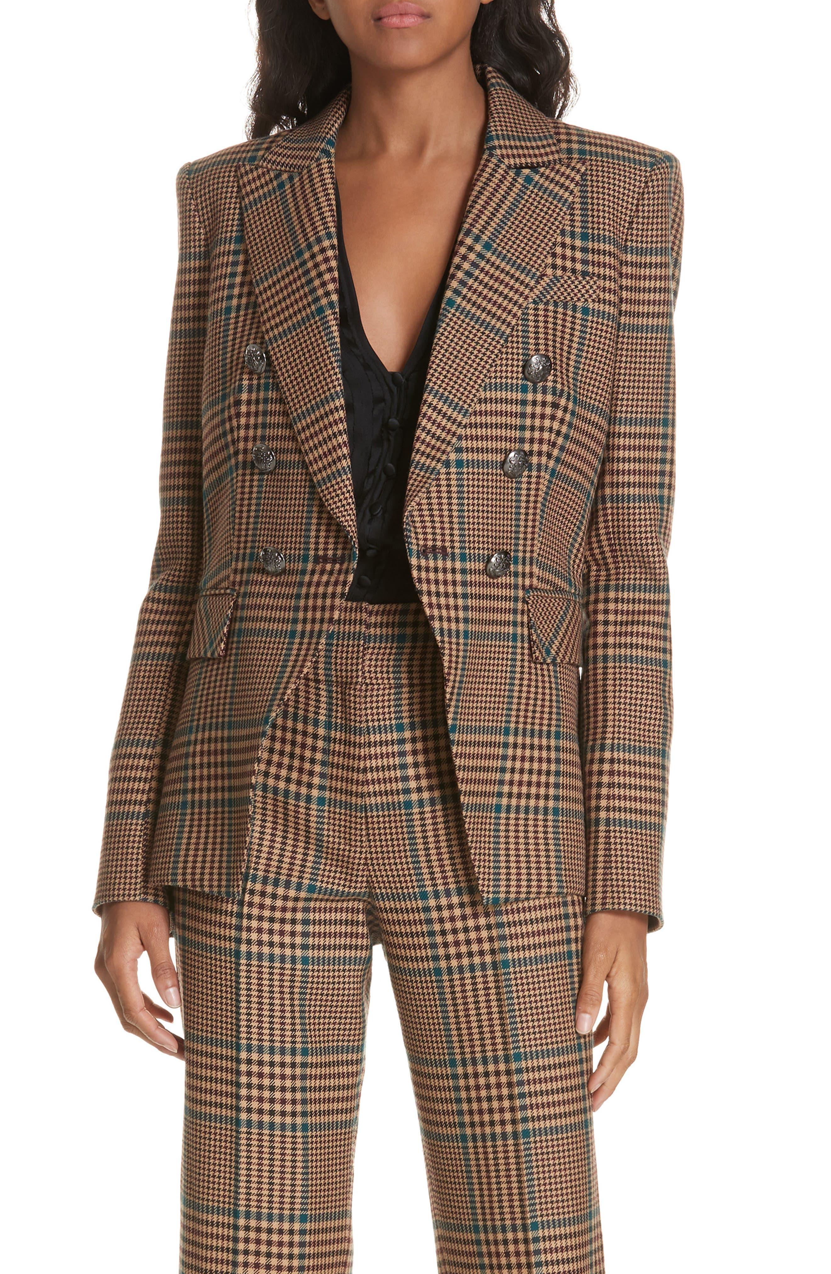 Miller Wool Blend Dickey Jacket,                         Main,                         color, PETROL MULTI