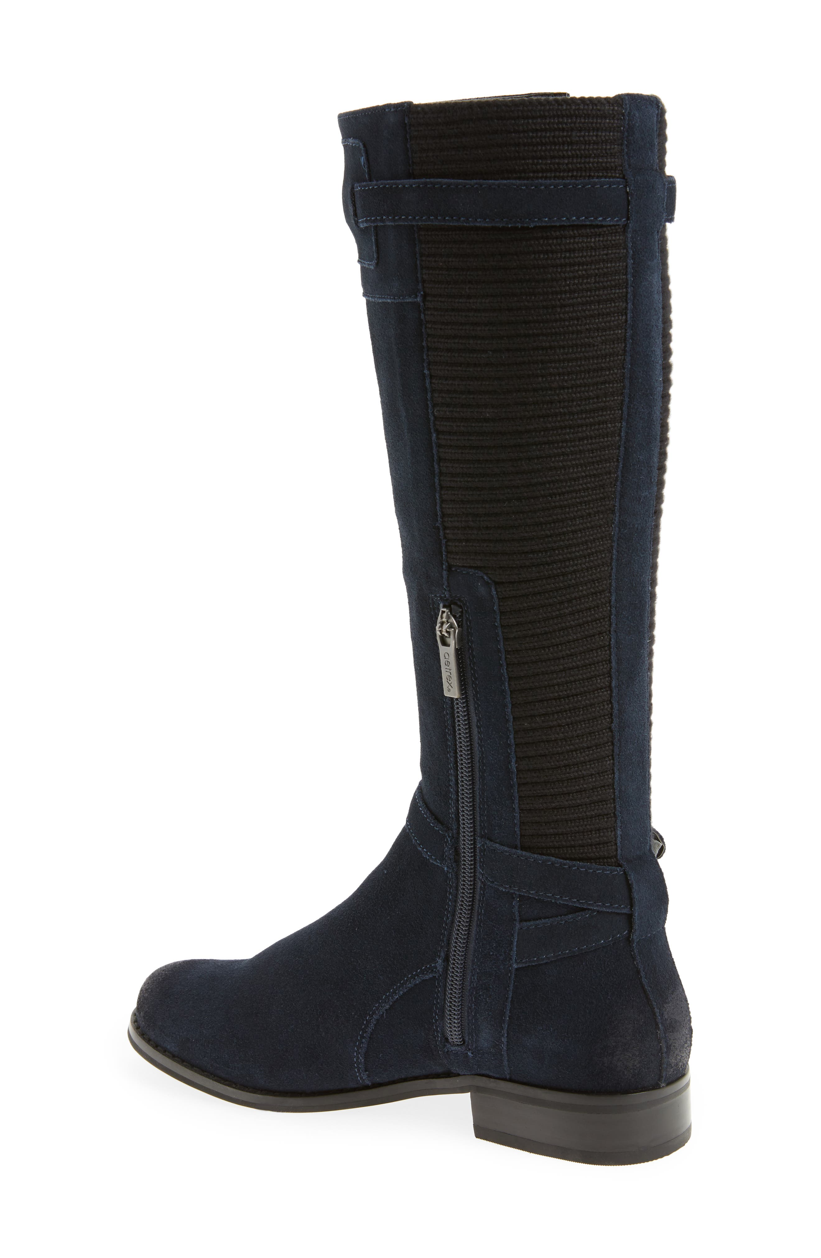 'Chelsea' Riding Boot,                             Alternate thumbnail 2, color,                             NAVY SUEDE