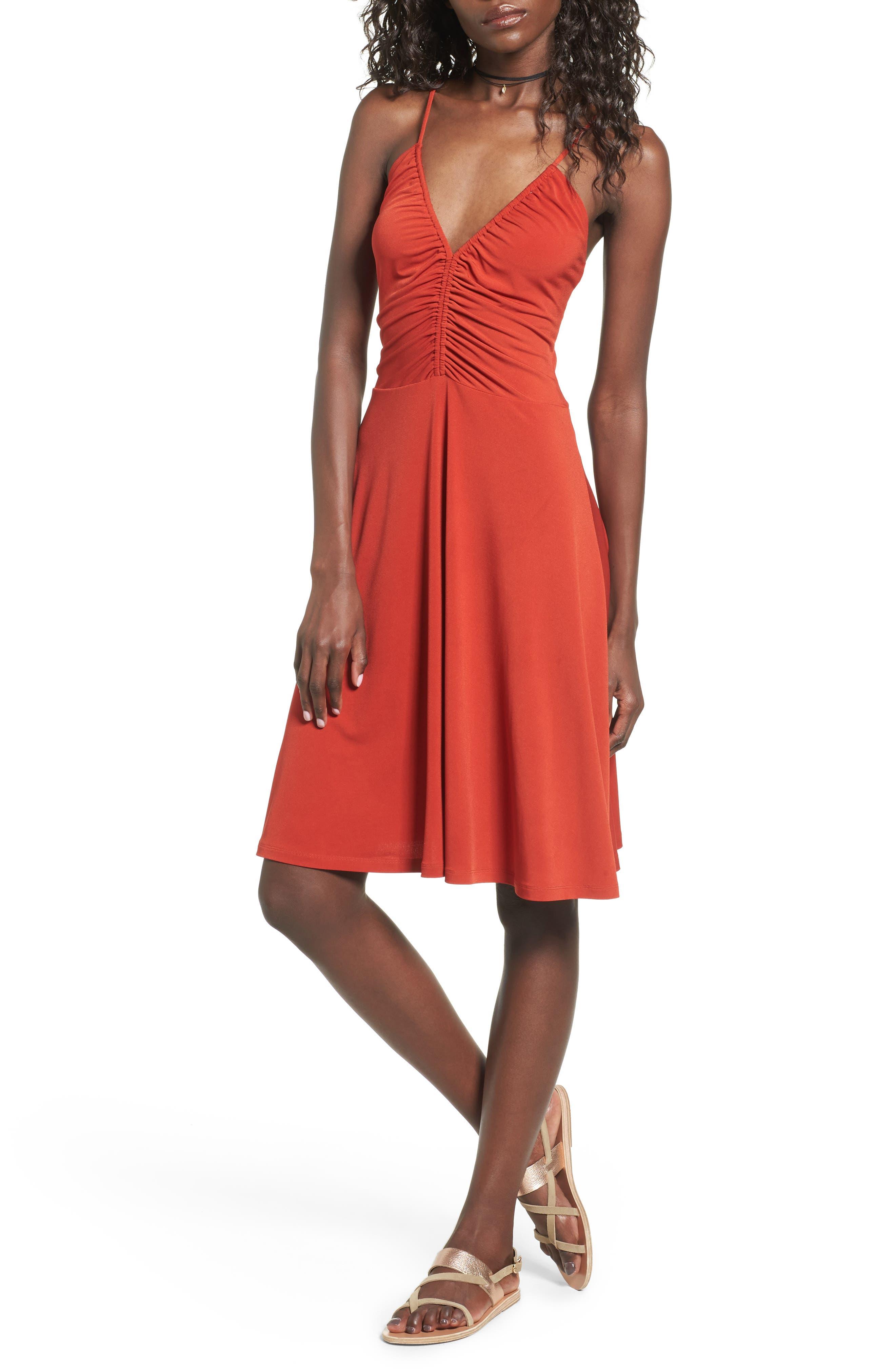 Cinch Front Dress,                         Main,                         color, 610