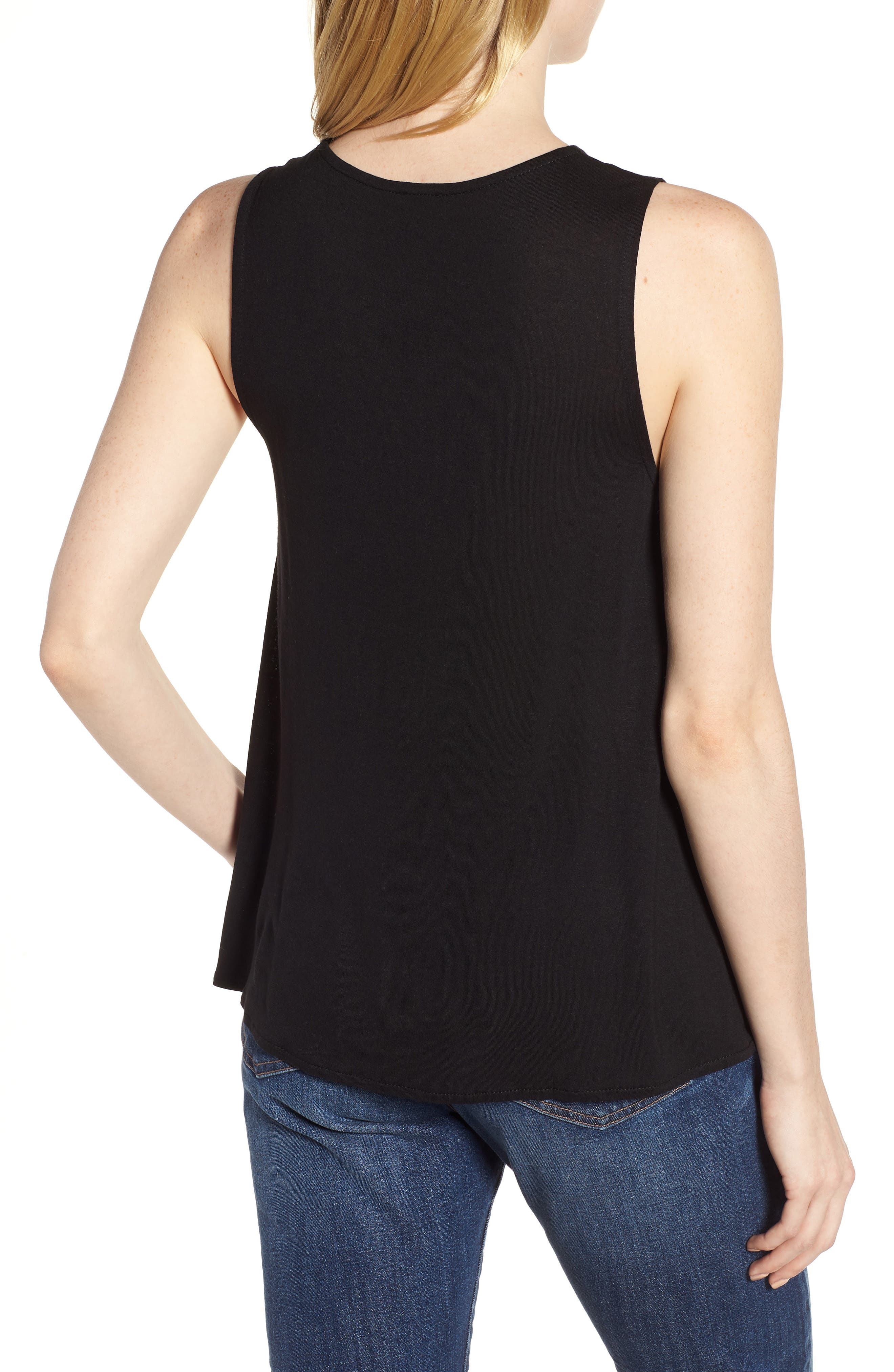 Pleated Swing Tank Top,                             Alternate thumbnail 2, color,                             001