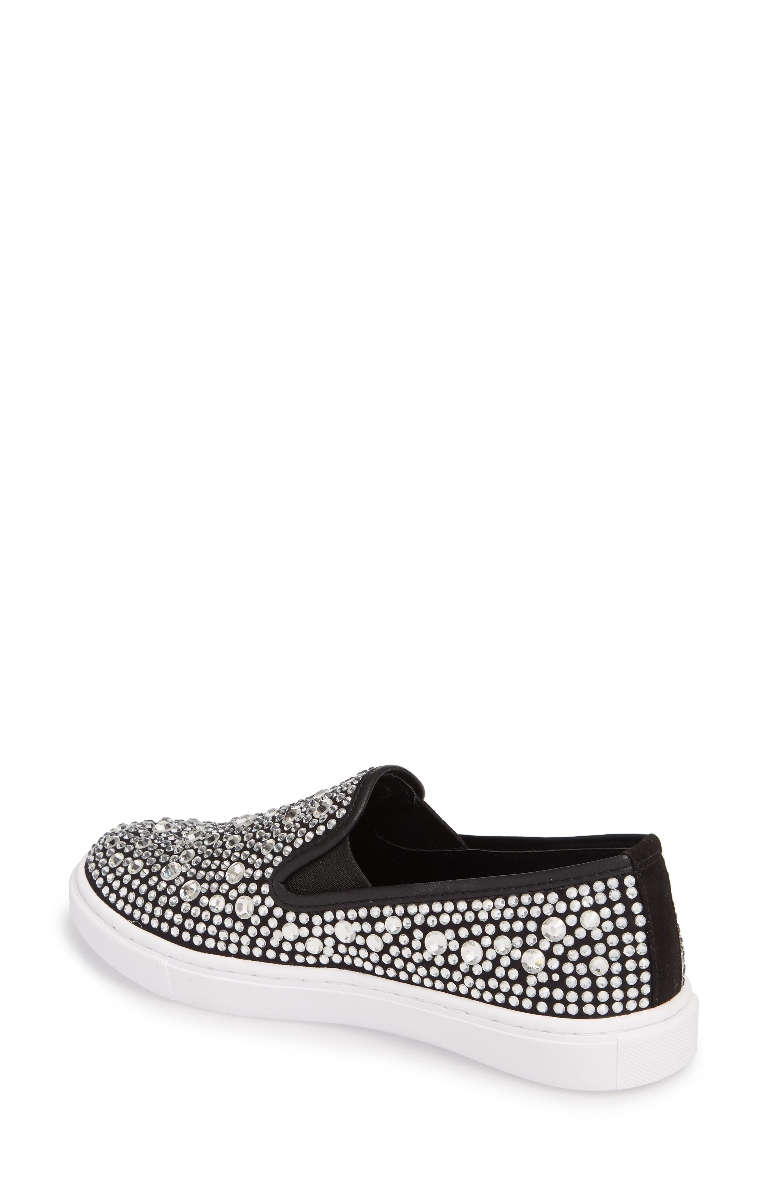 Evada Crystal Embellished Slip-On Sneaker,                             Alternate thumbnail 2, color,                             040