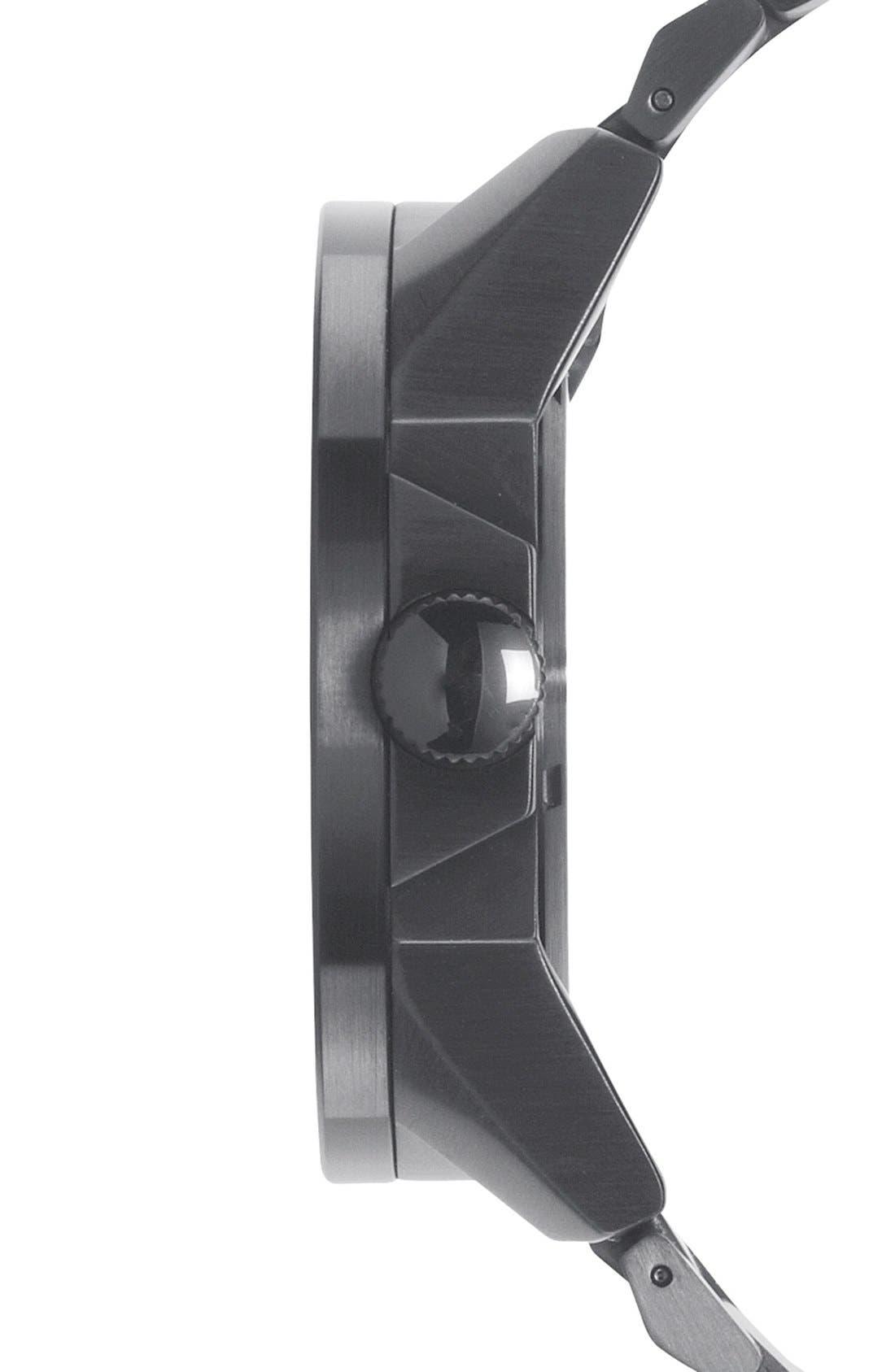 'The Corporal' Bracelet Watch, 48mm,                             Alternate thumbnail 3, color,                             GUNMETAL