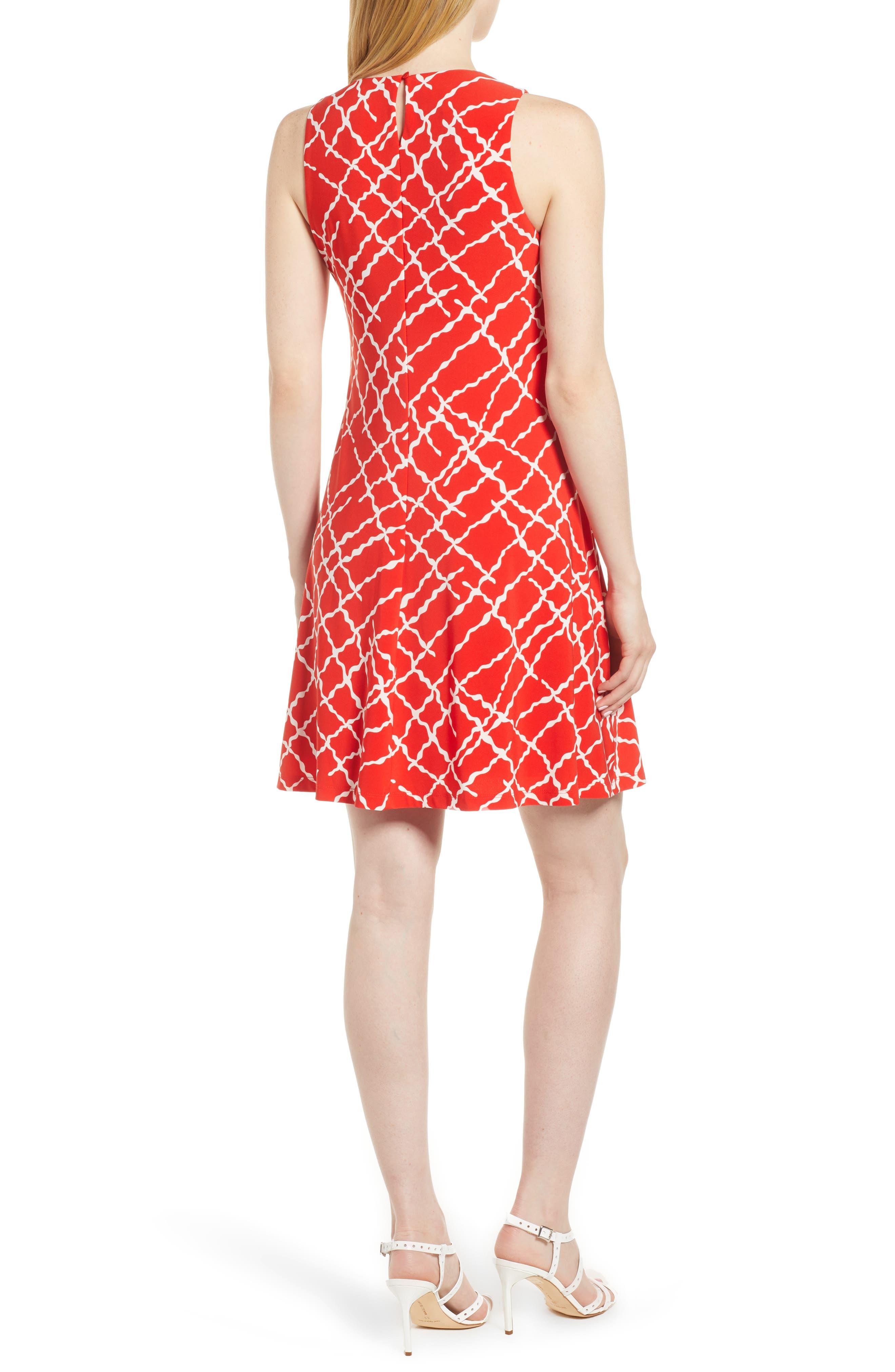 Print Swing Dress,                             Alternate thumbnail 4, color,