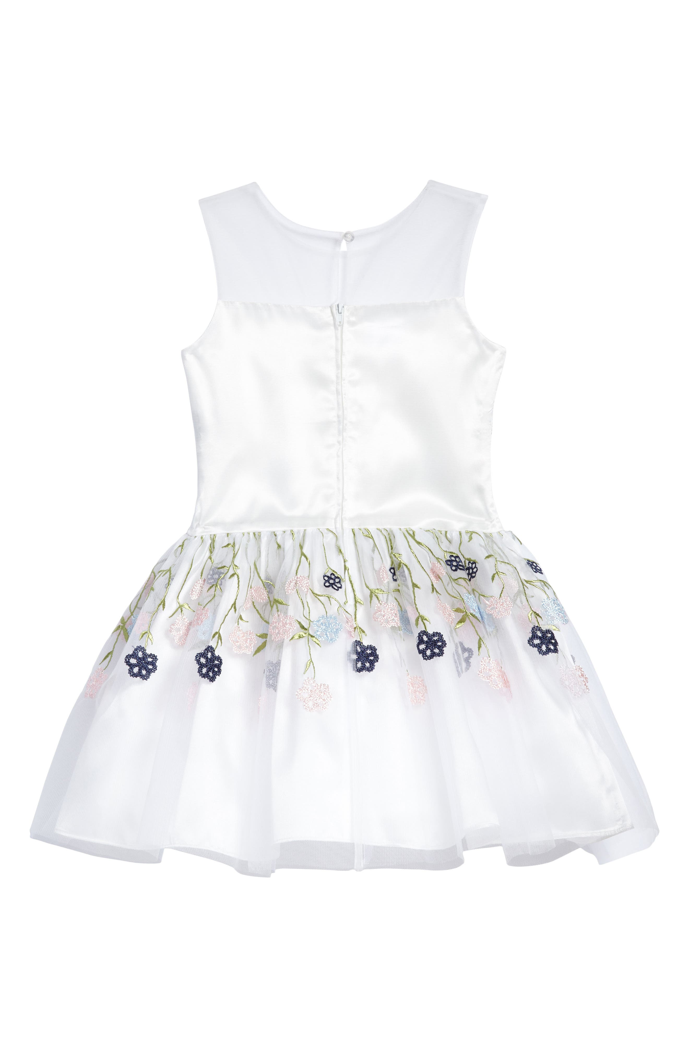 Floral Embroidered Dress,                             Alternate thumbnail 2, color,                             100