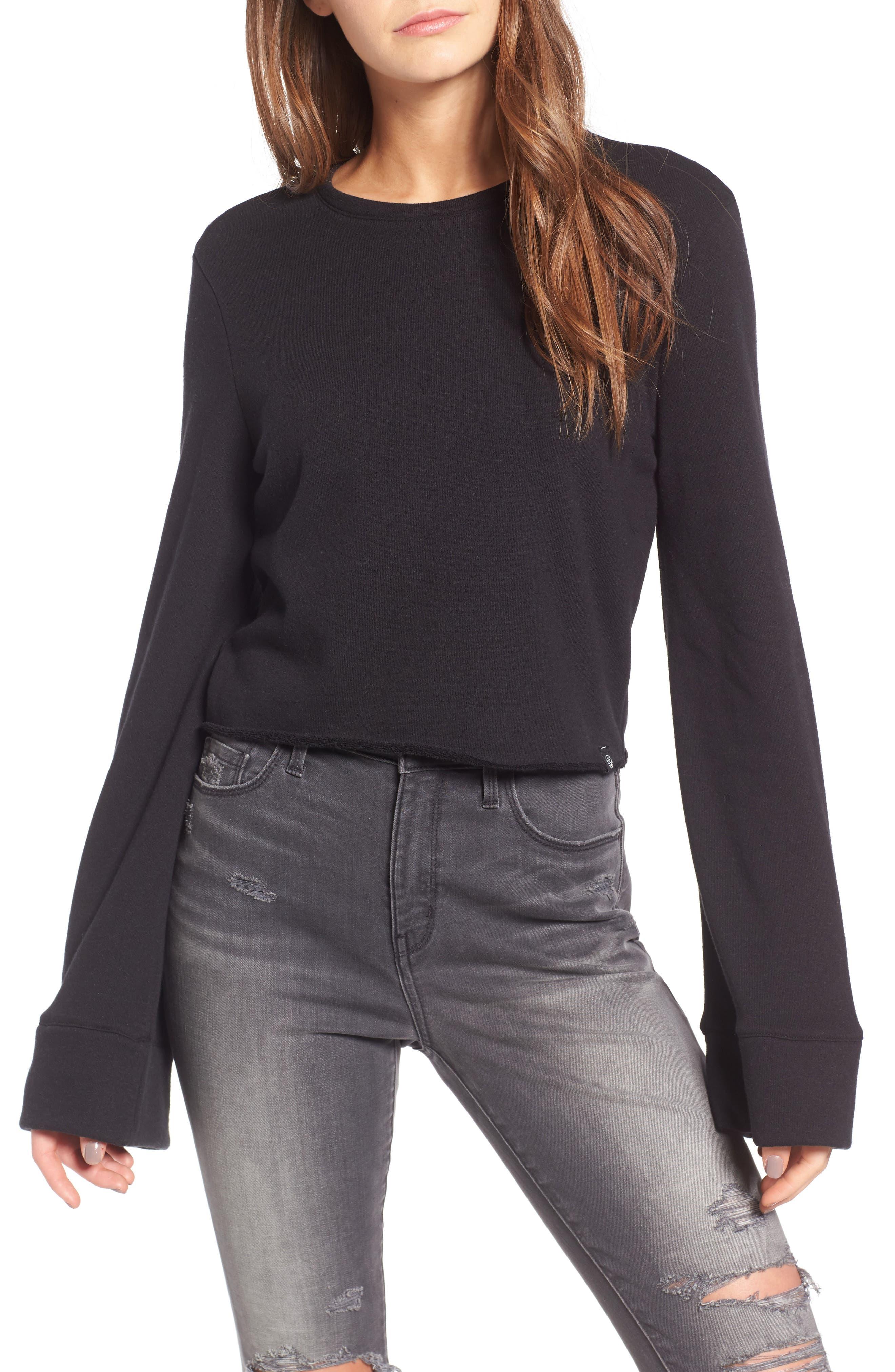 TREASURE & BOND,                             Wide Sleeve Sweatshirt,                             Main thumbnail 1, color,                             001