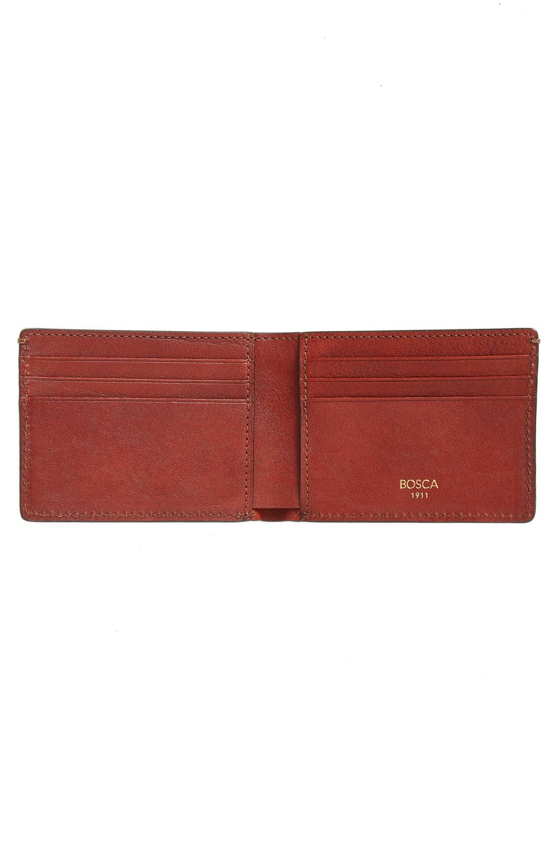 Leather Bifold Wallet,                             Alternate thumbnail 2, color,                             200