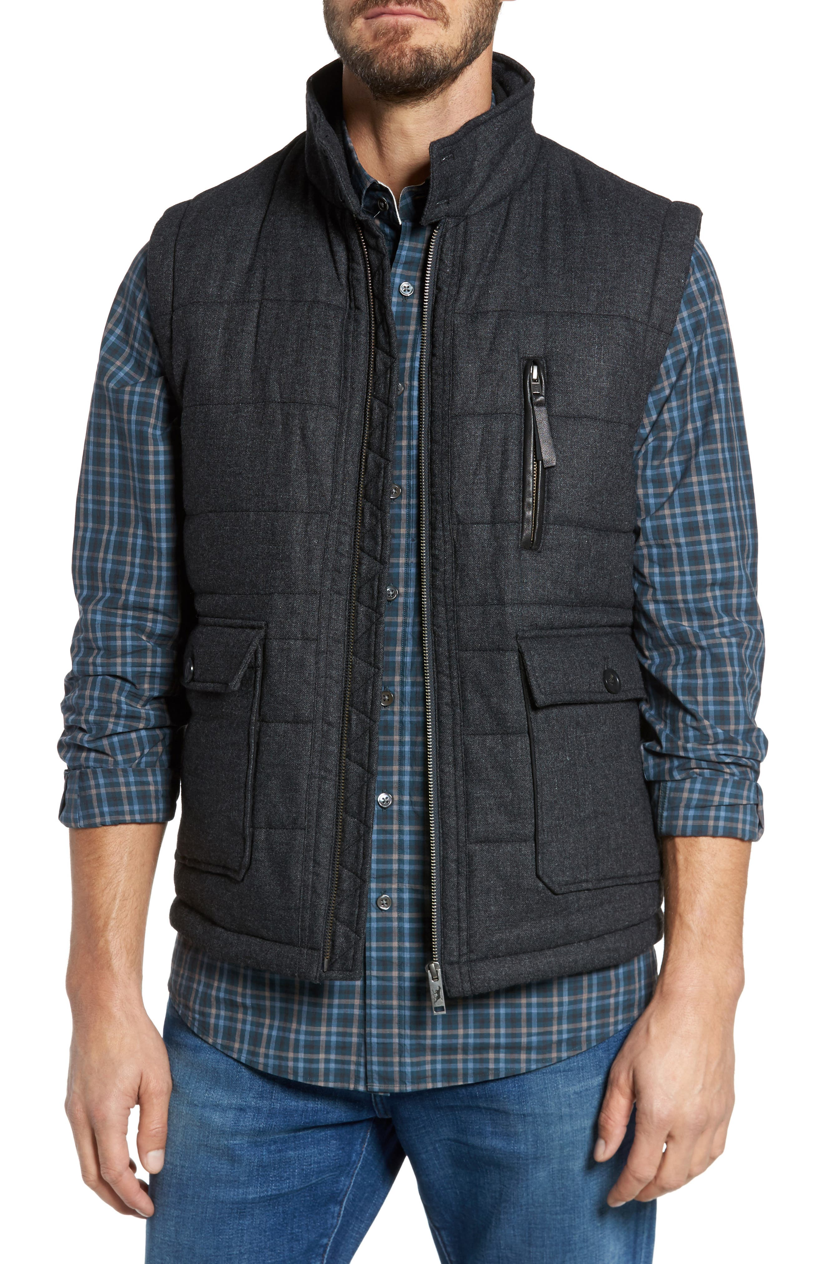 Johnsonville Quilted Vest,                         Main,                         color, 021