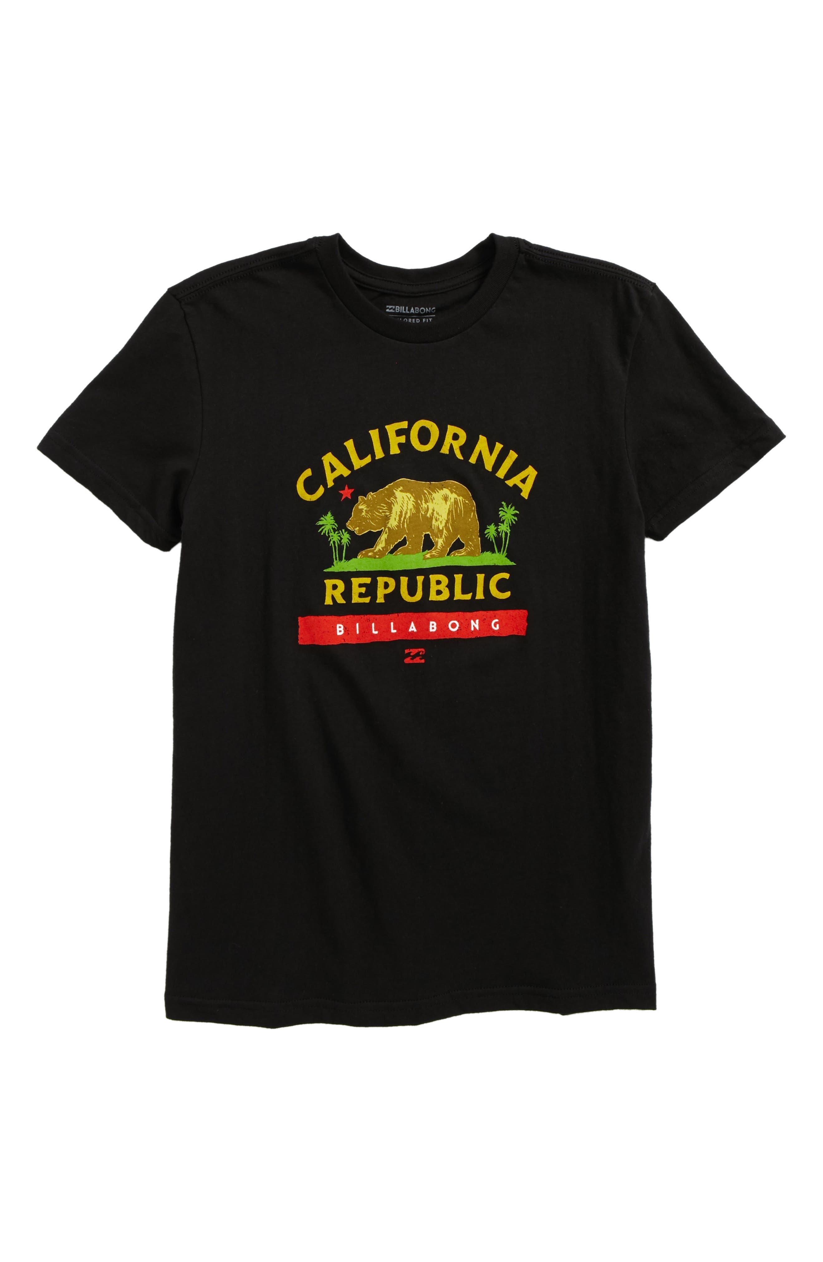 Cali Bear Graphic T-Shirt,                             Main thumbnail 1, color,                             001