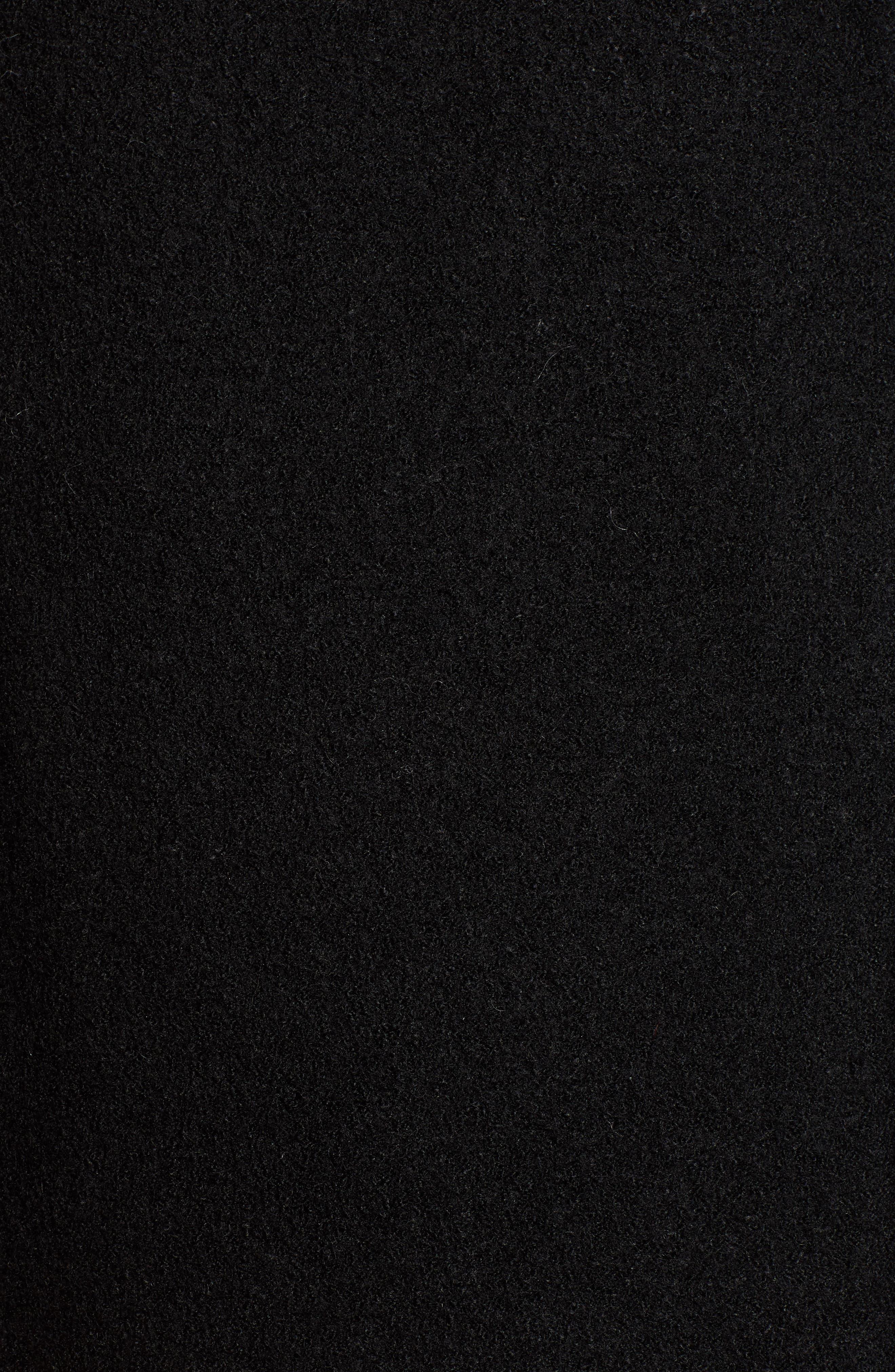 Boiled Wool Blend Moto Jacket,                             Alternate thumbnail 7, color,                             001