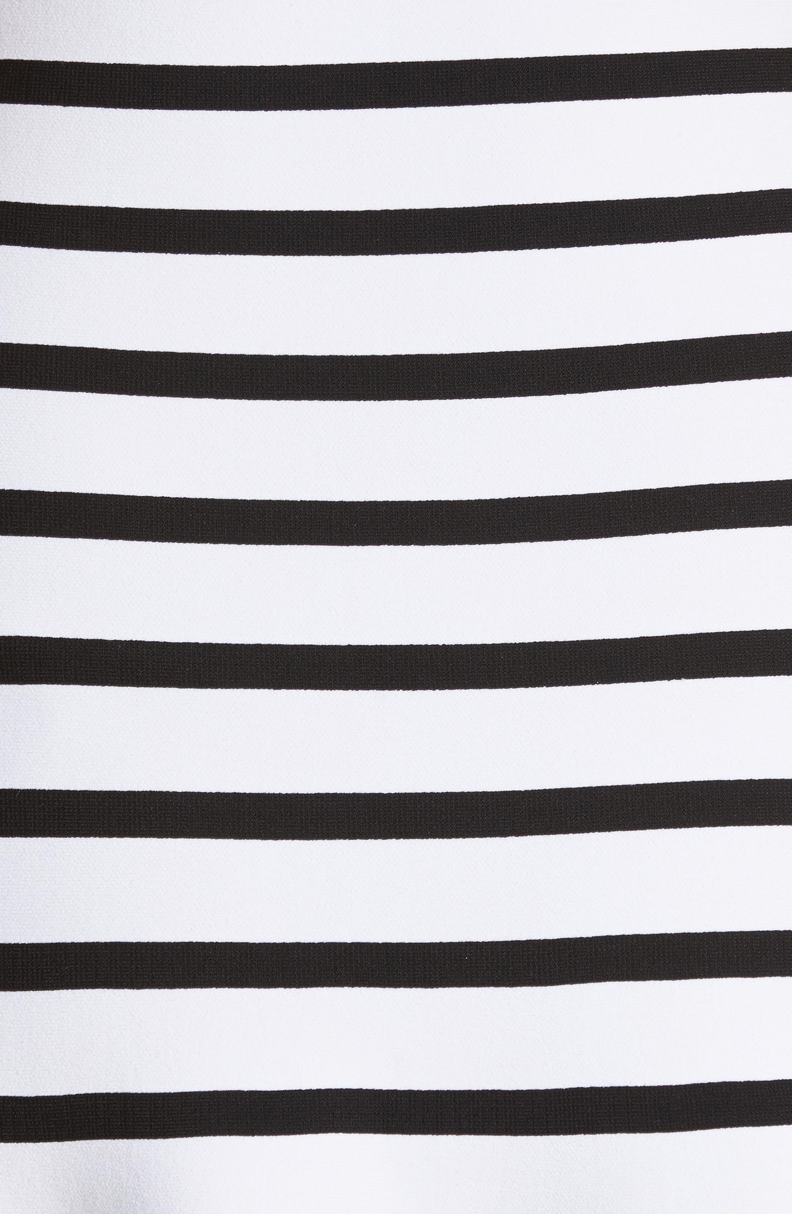 Stripe Off the Shoulder Maxi Dress,                             Alternate thumbnail 5, color,