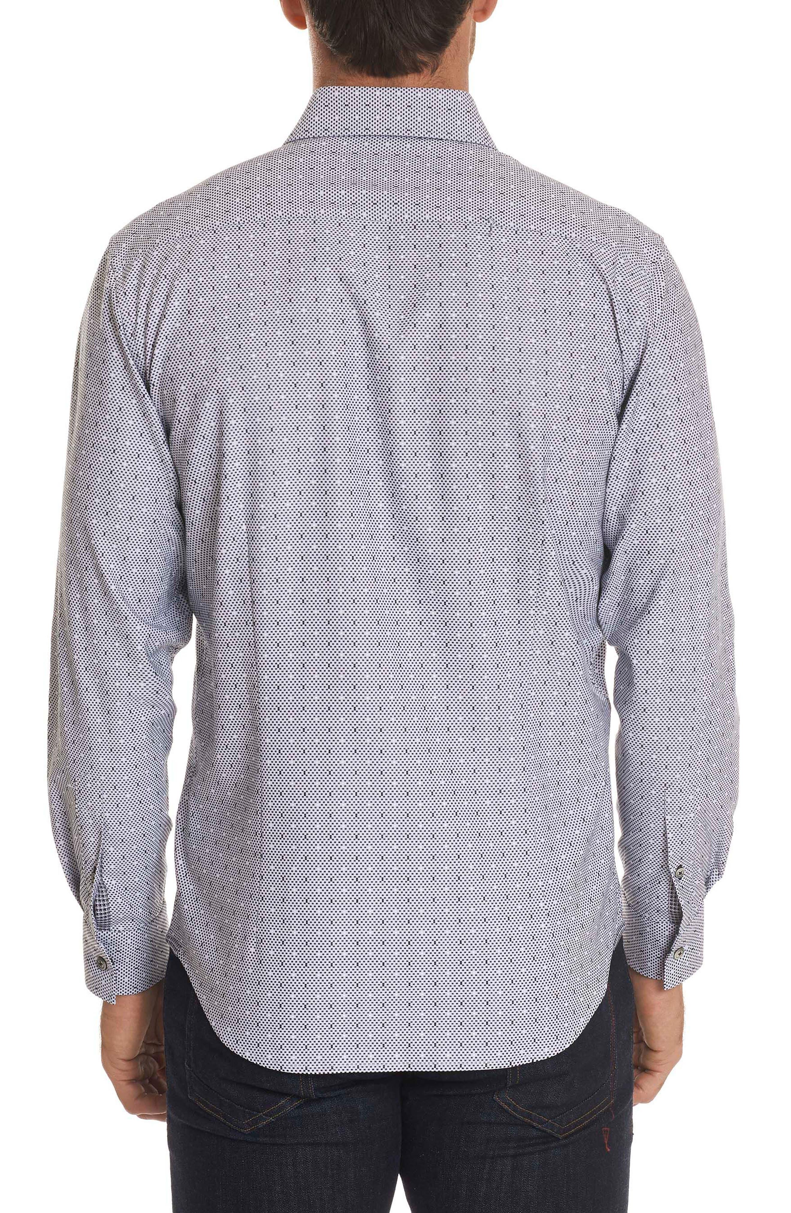 Miles Regular Fit Dot Sport Shirt,                             Alternate thumbnail 2, color,                             001