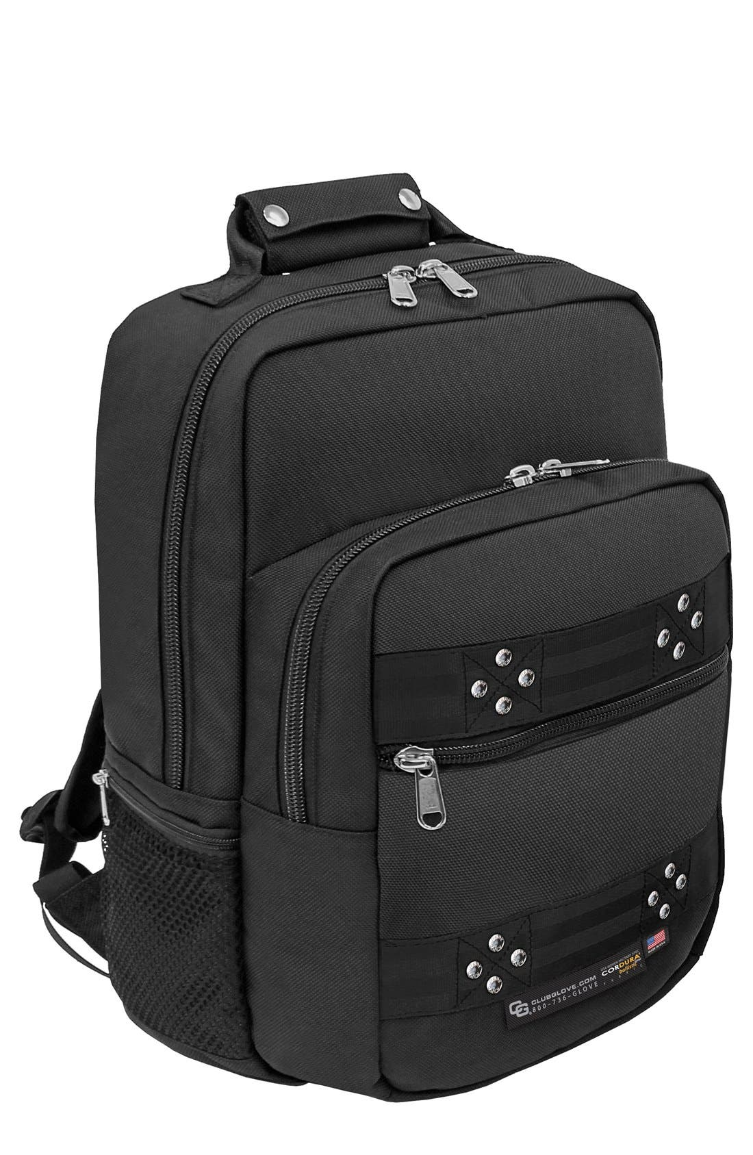 'TRS Ballistic - Executive' Backpack,                             Main thumbnail 1, color,                             BLACK/ BLACK