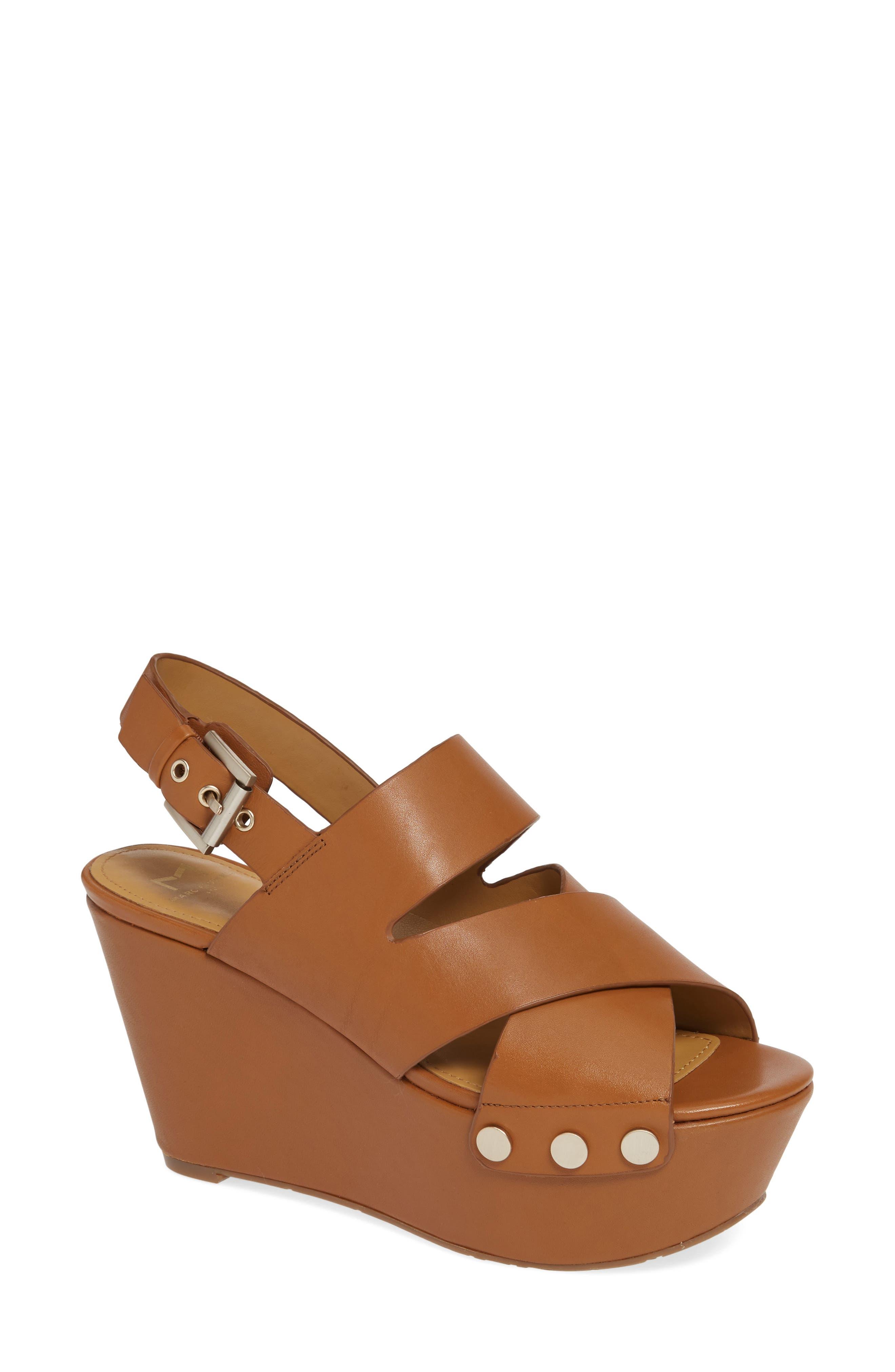 Bianka Platform Wedge Sandal,                             Main thumbnail 1, color,                             GINGER SNAP LEATHER