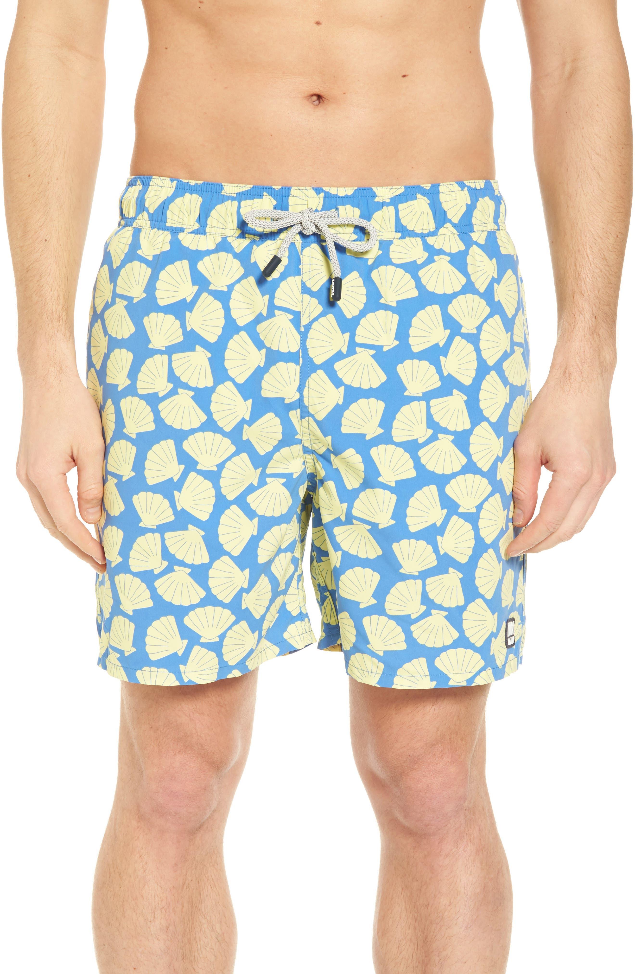 Shell Print Swim Trunks,                         Main,                         color, 430