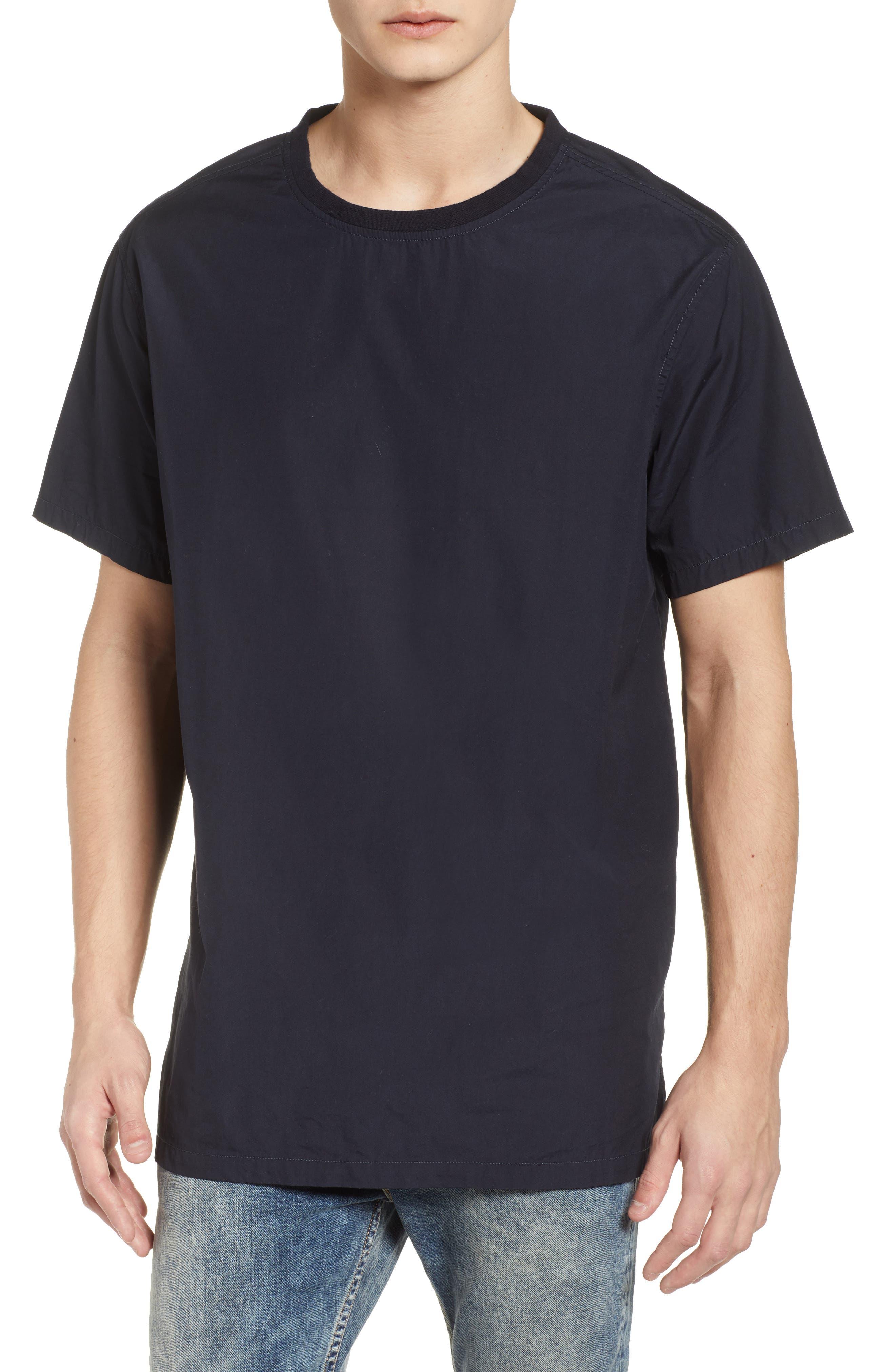 Woven T-Shirt,                         Main,                         color, 001