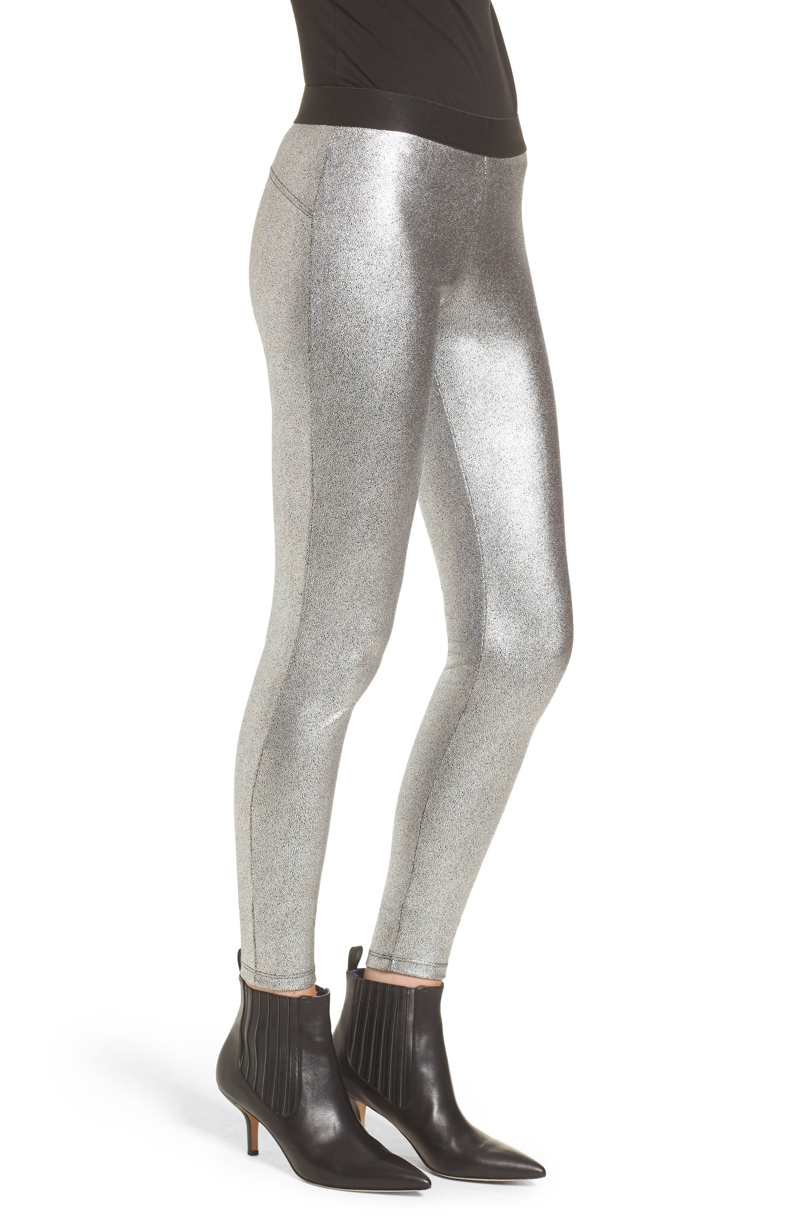 Metallic Leggings,                             Alternate thumbnail 3, color,                             040