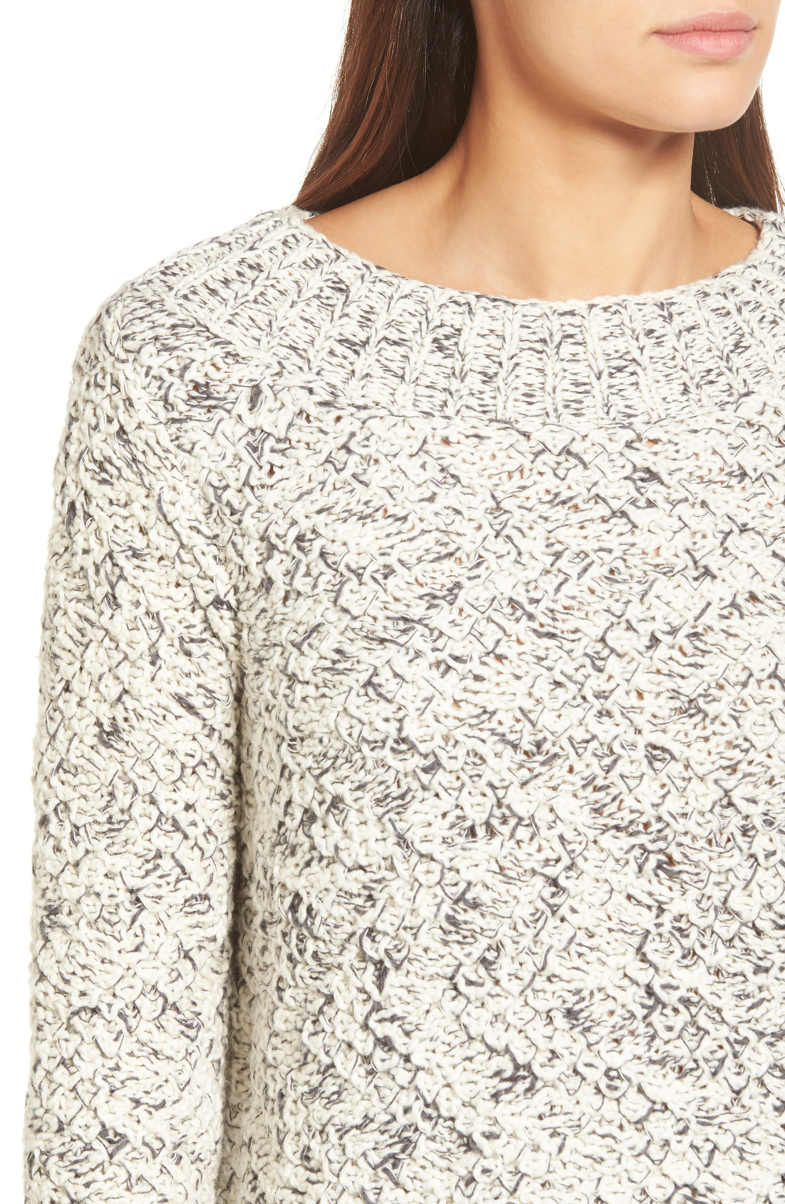 Marled Organic Cotton Sweater,                             Alternate thumbnail 4, color,                             903