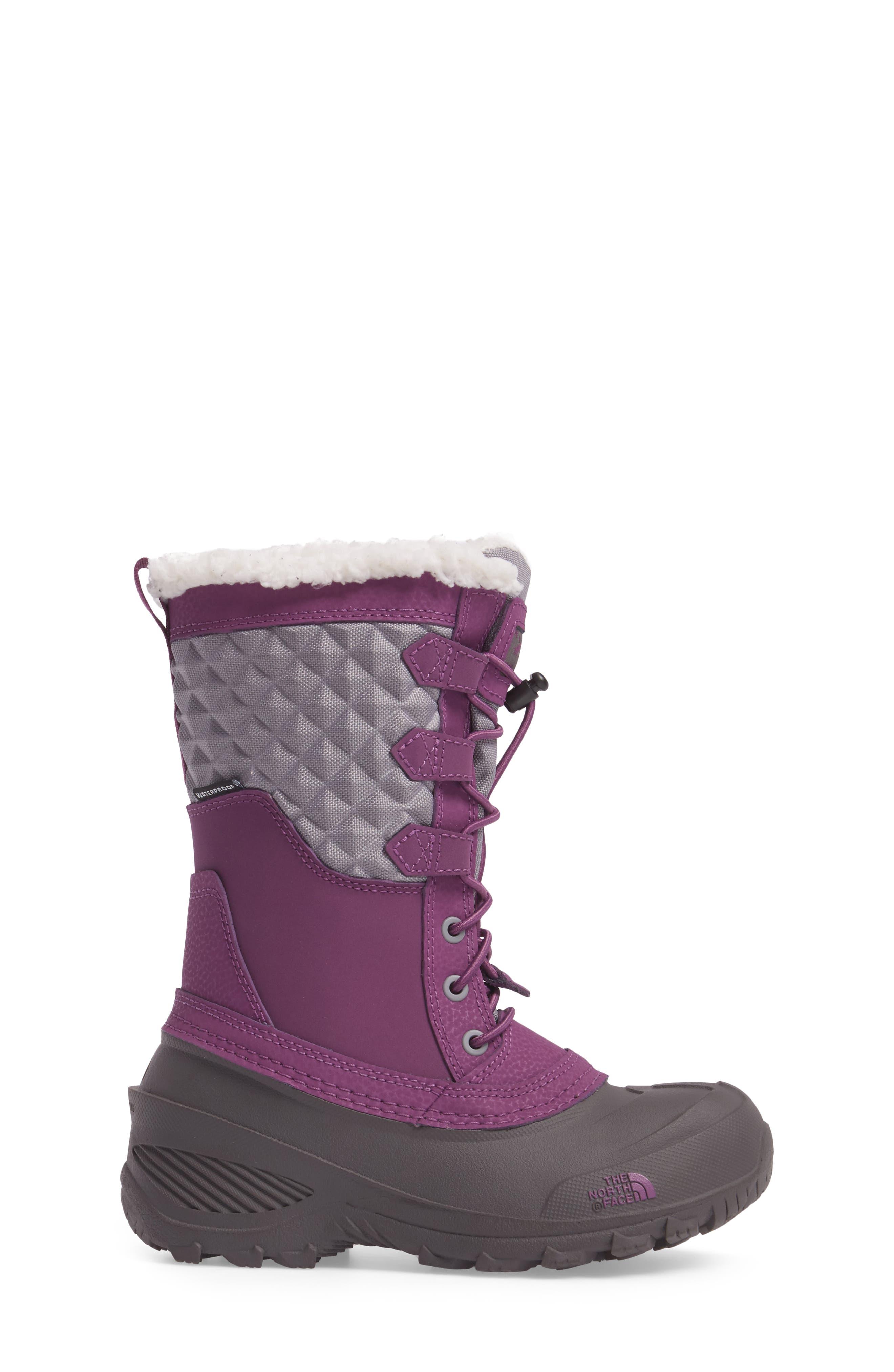 Shellista Lace III Faux Fur Waterproof Boot,                             Alternate thumbnail 9, color,