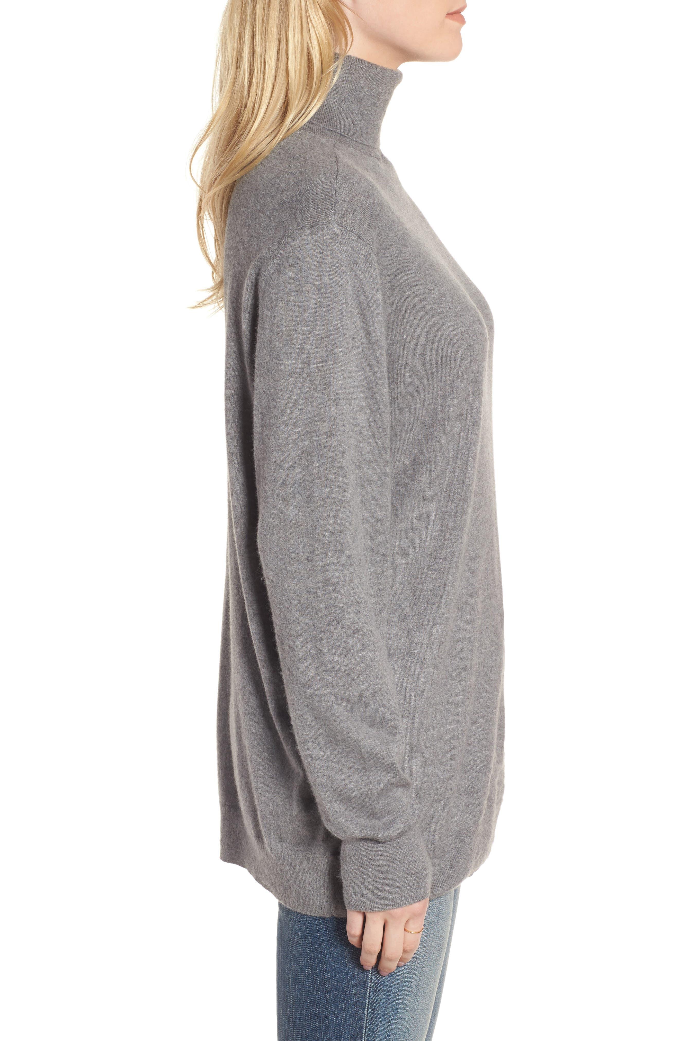 Boyfriend Turtleneck Sweater,                             Alternate thumbnail 8, color,