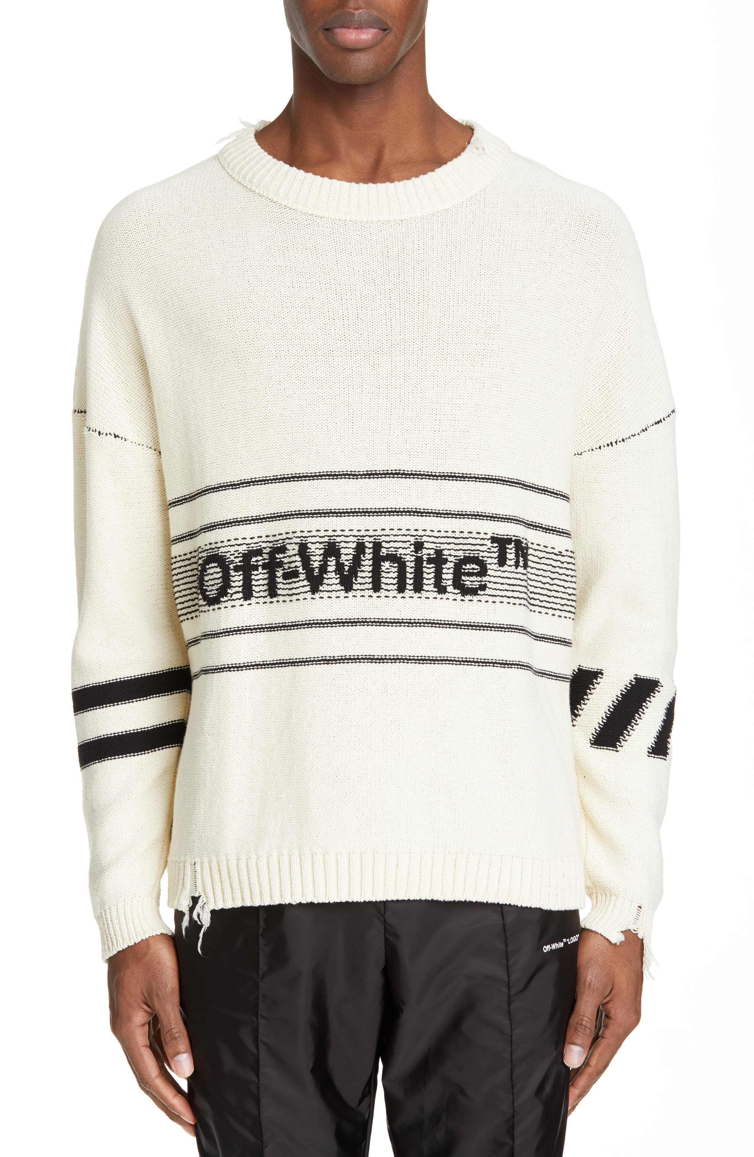 Logo Sweater,                             Main thumbnail 1, color,                             OFF WHITE