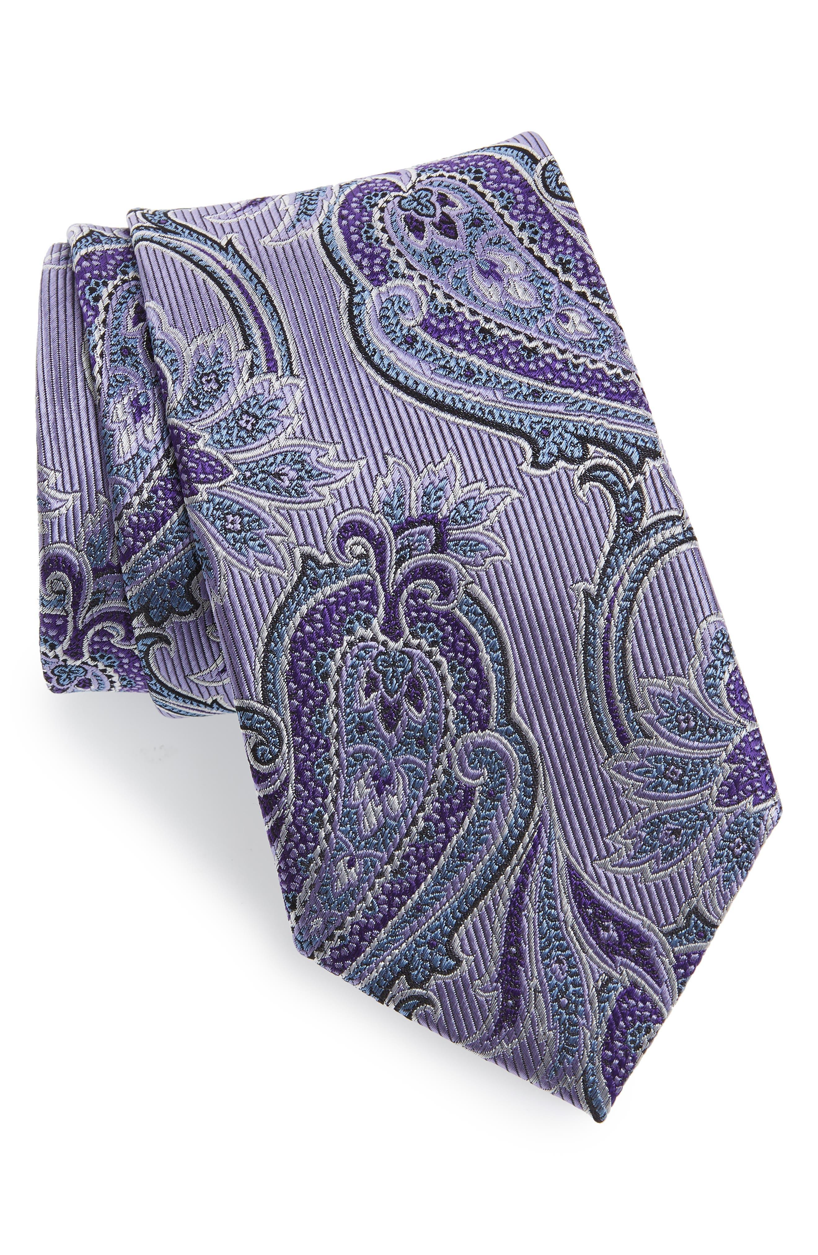 Paisley Silk Tie,                             Main thumbnail 1, color,                             520