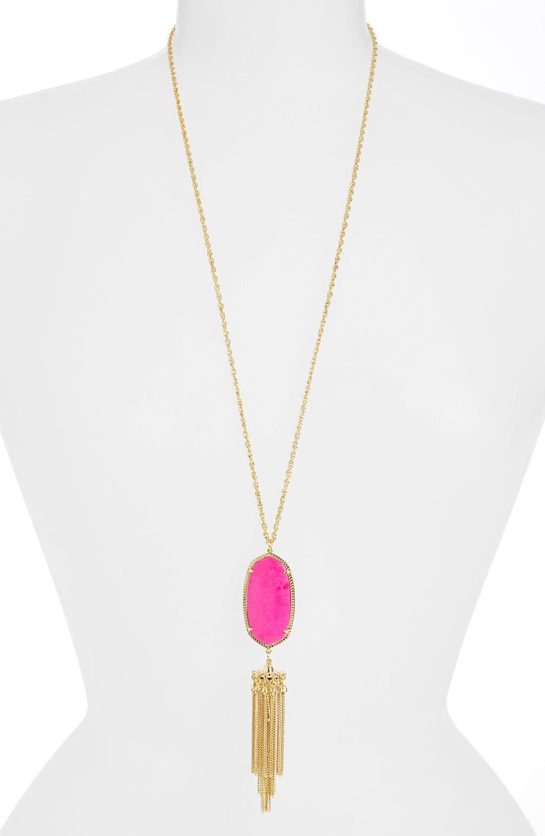 Rayne Stone Tassel Pendant Necklace,                             Main thumbnail 16, color,