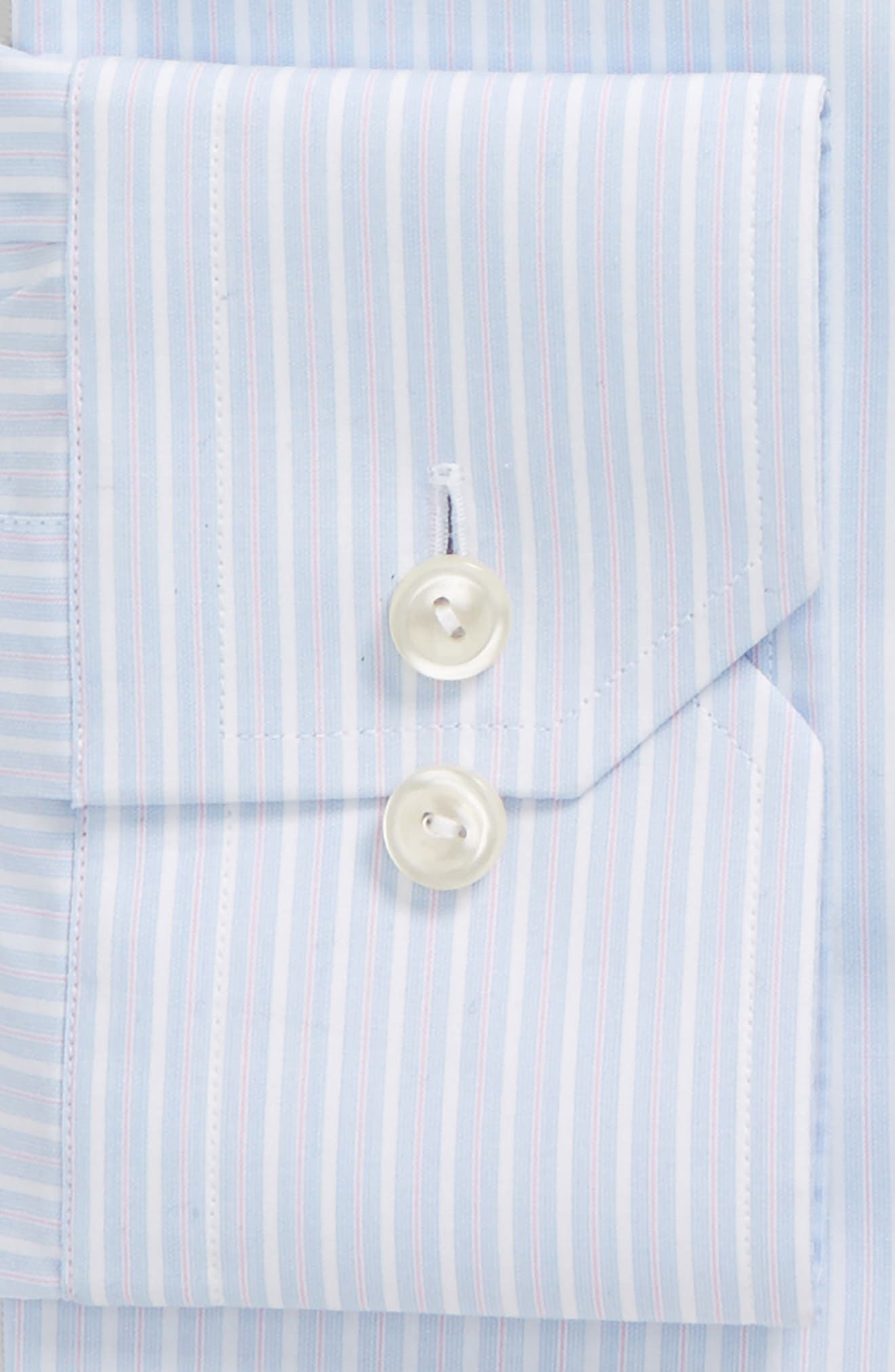 Contemporary Fit Stripe Dress Shirt,                             Alternate thumbnail 6, color,                             650