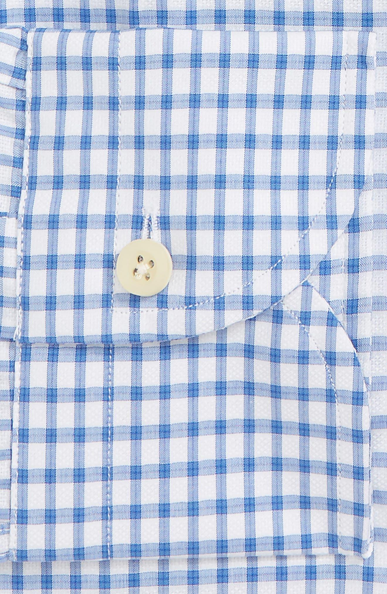 Garrison Slim Fit Check Dress Shirt,                             Alternate thumbnail 6, color,