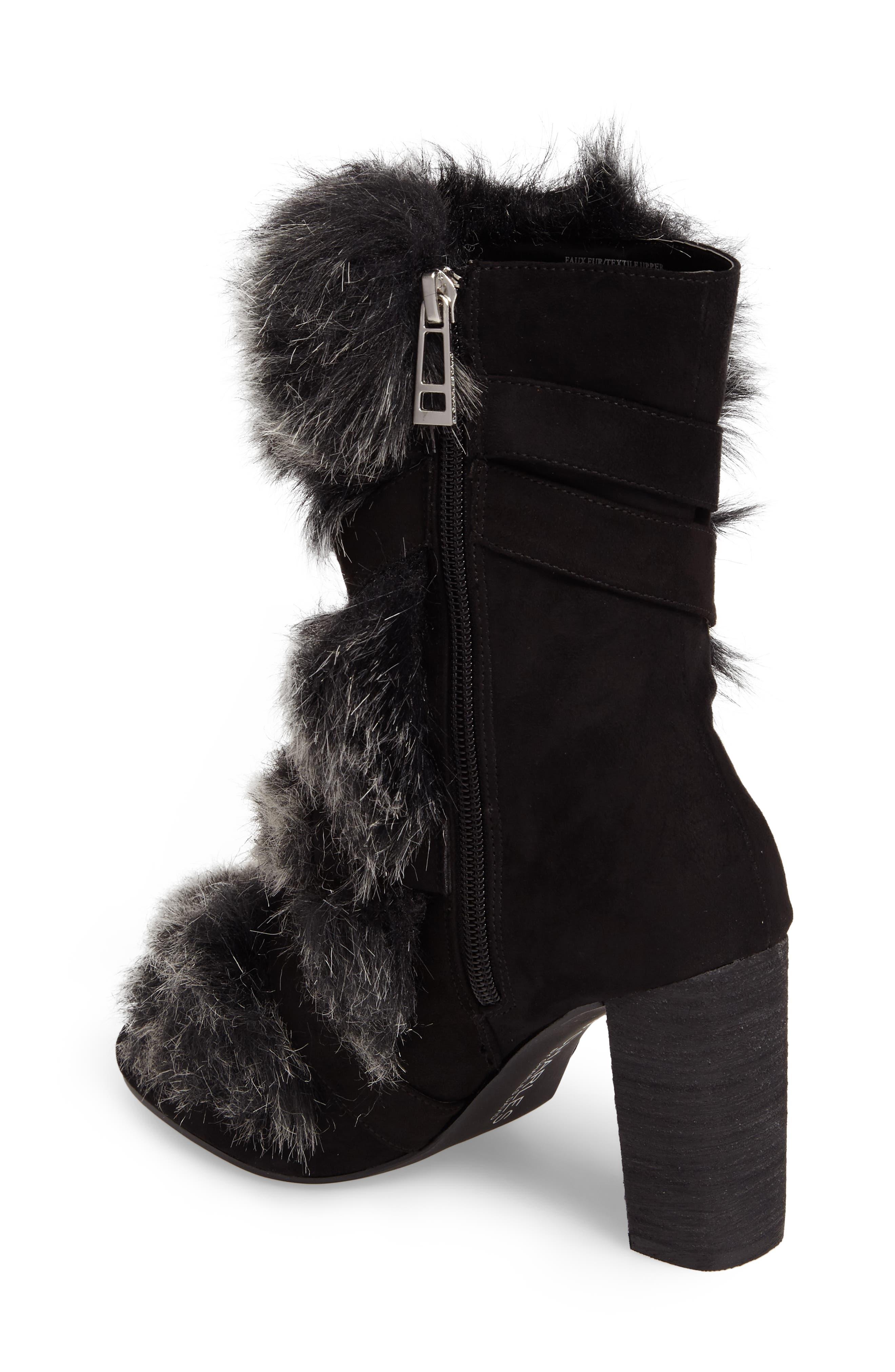 Alberta Faux Fur Boot,                             Alternate thumbnail 2, color,                             001