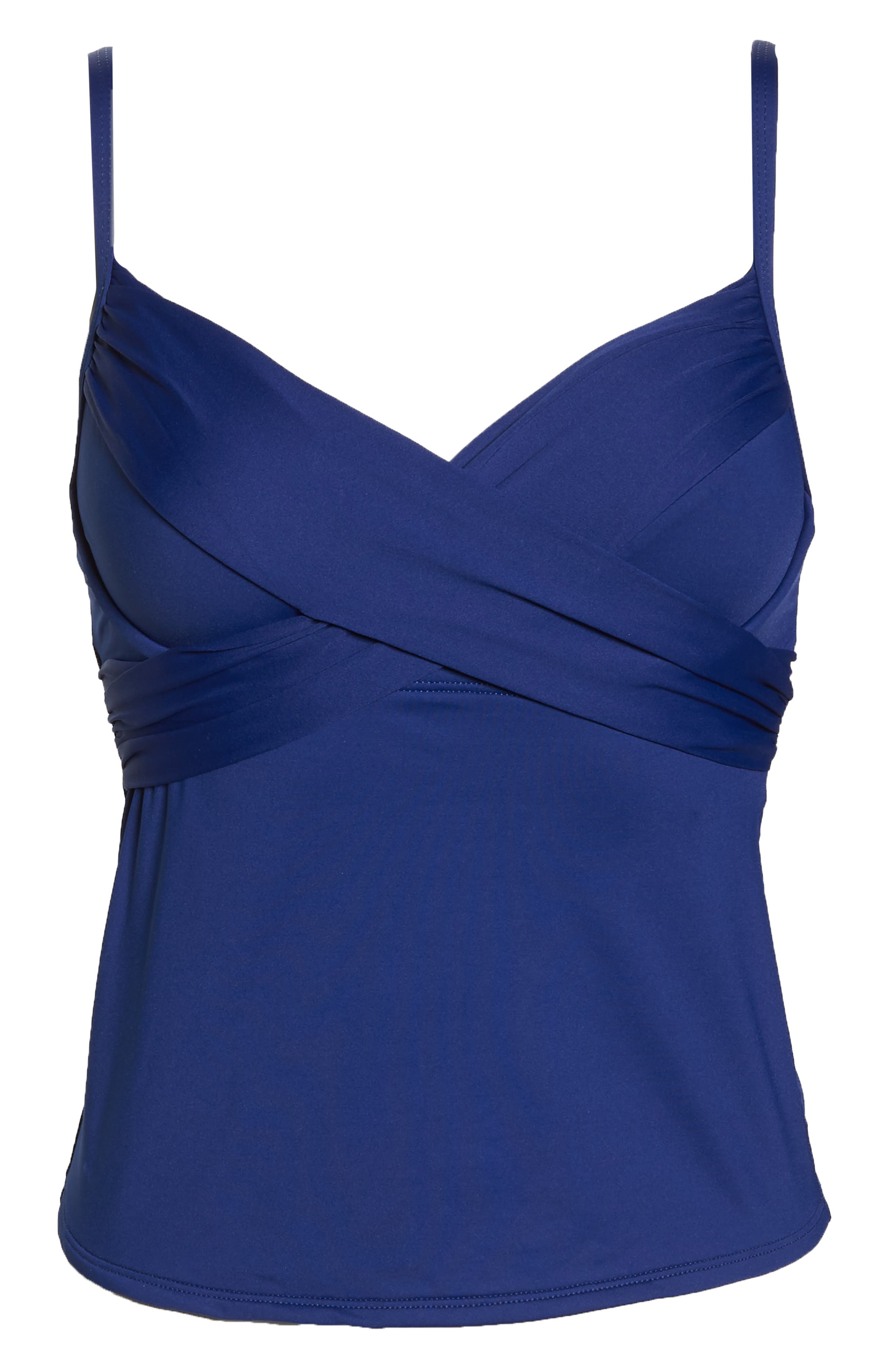 Island Goddess Underwire Tankini Top,                             Alternate thumbnail 6, color,                             409