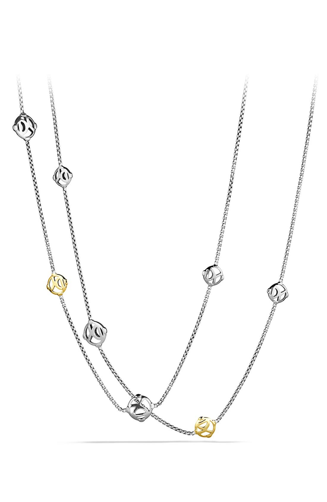 'Chain' DY Logo Chain Necklace with Gold, Main, color, 040