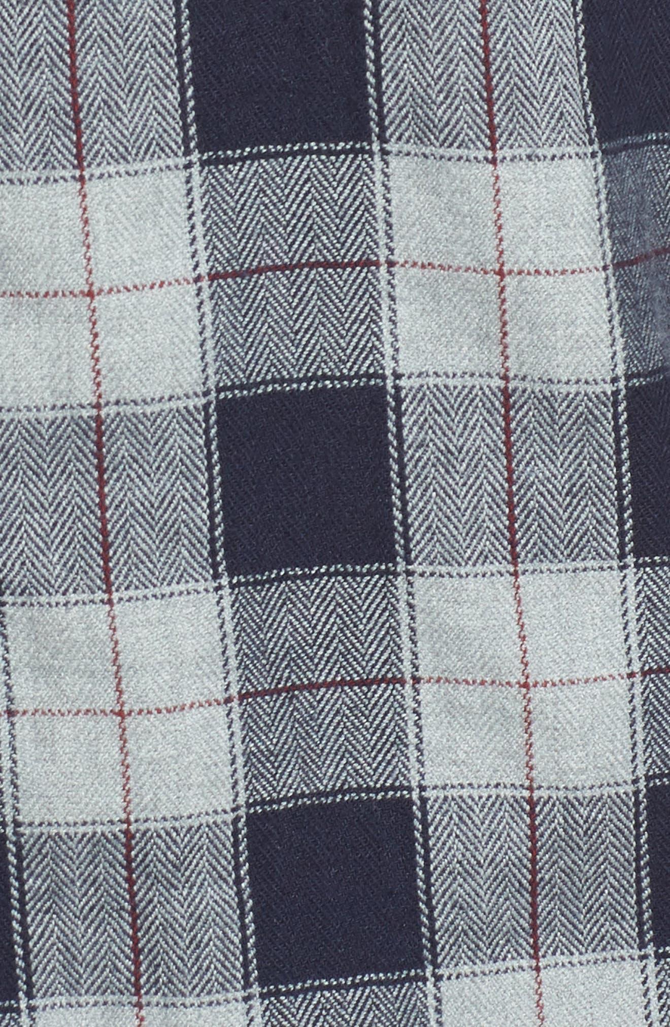 Harper Regular Fit Plaid Sport Shirt,                             Alternate thumbnail 5, color,                             071