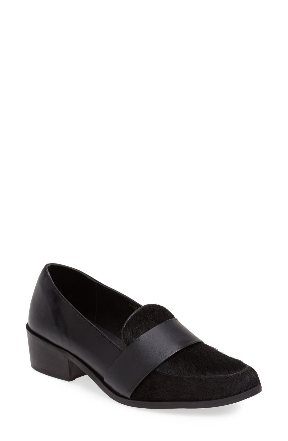'Baha' Calf Hair and Leather Loafer,                             Main thumbnail 1, color,                             001