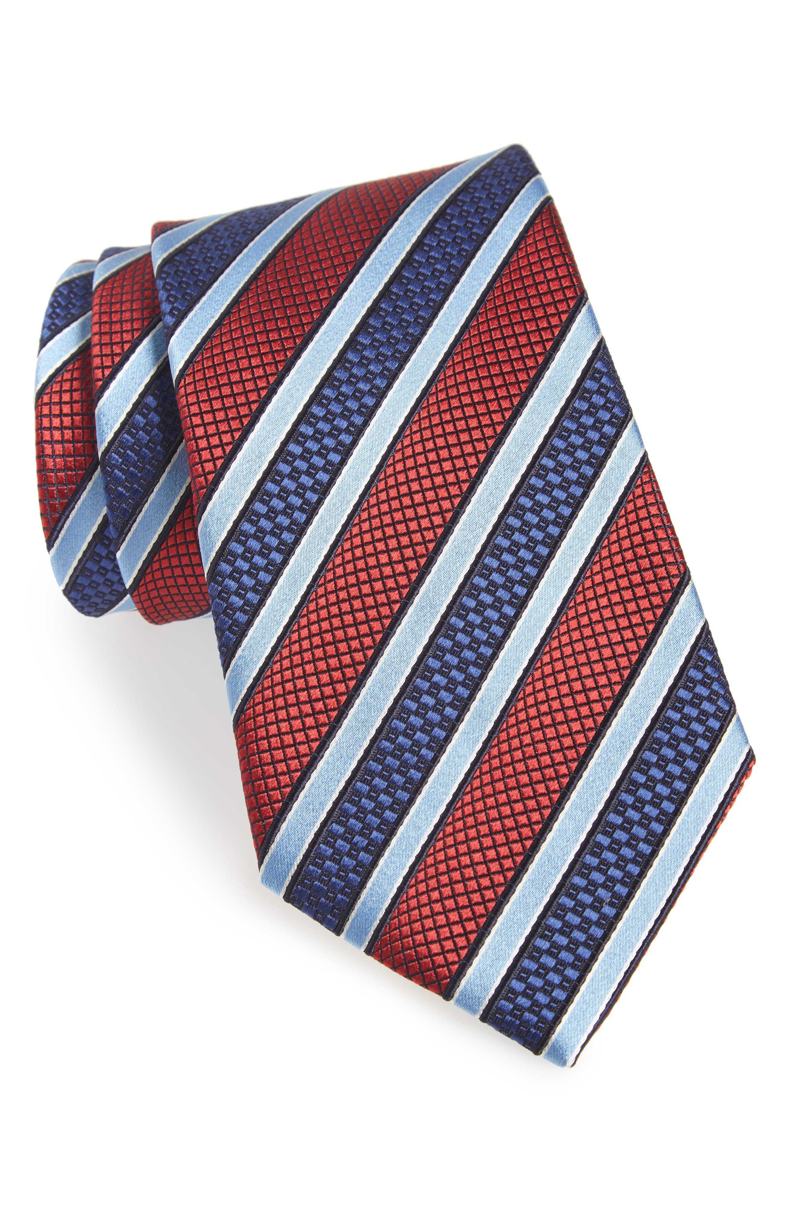 Stripe Silk Tie,                         Main,                         color, 600