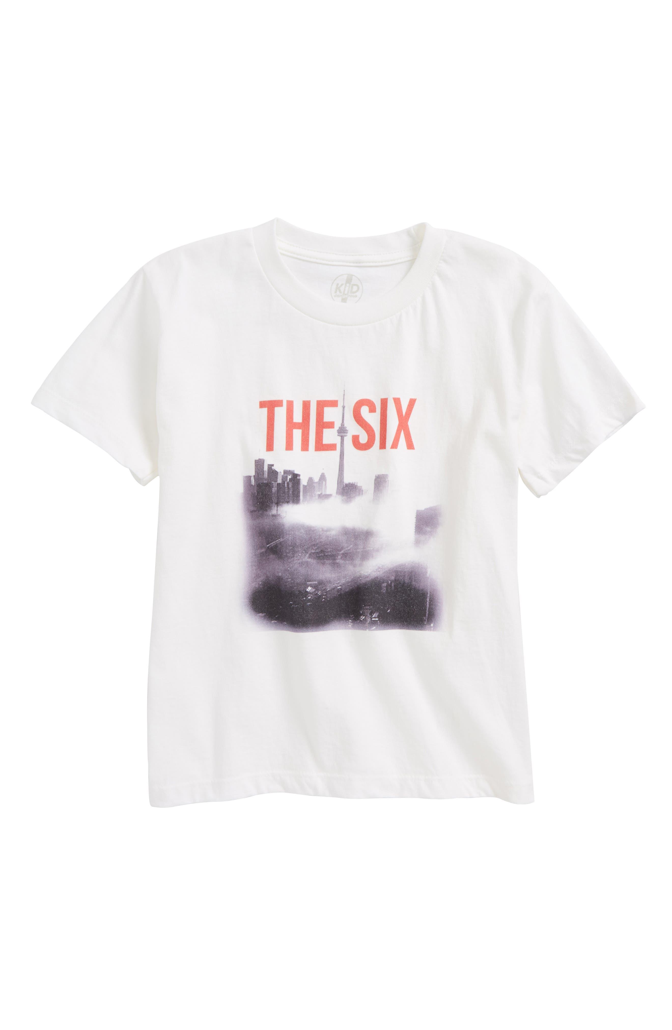 The Six Skyline Graphic T-Shirt,                             Main thumbnail 1, color,                             100