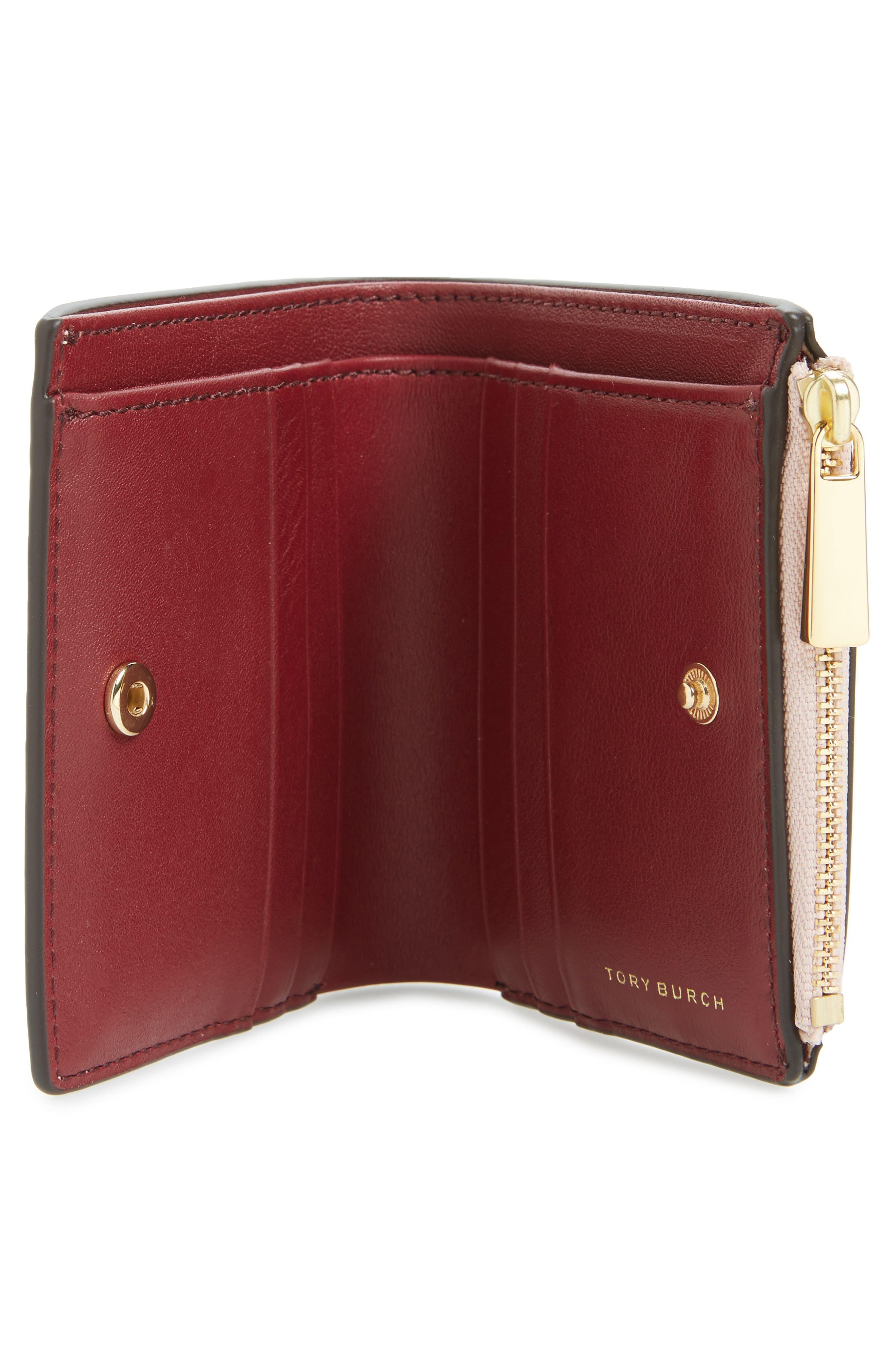 Mini Robinson Wallet Patent Leather Bifold Wallet,                             Alternate thumbnail 6, color,