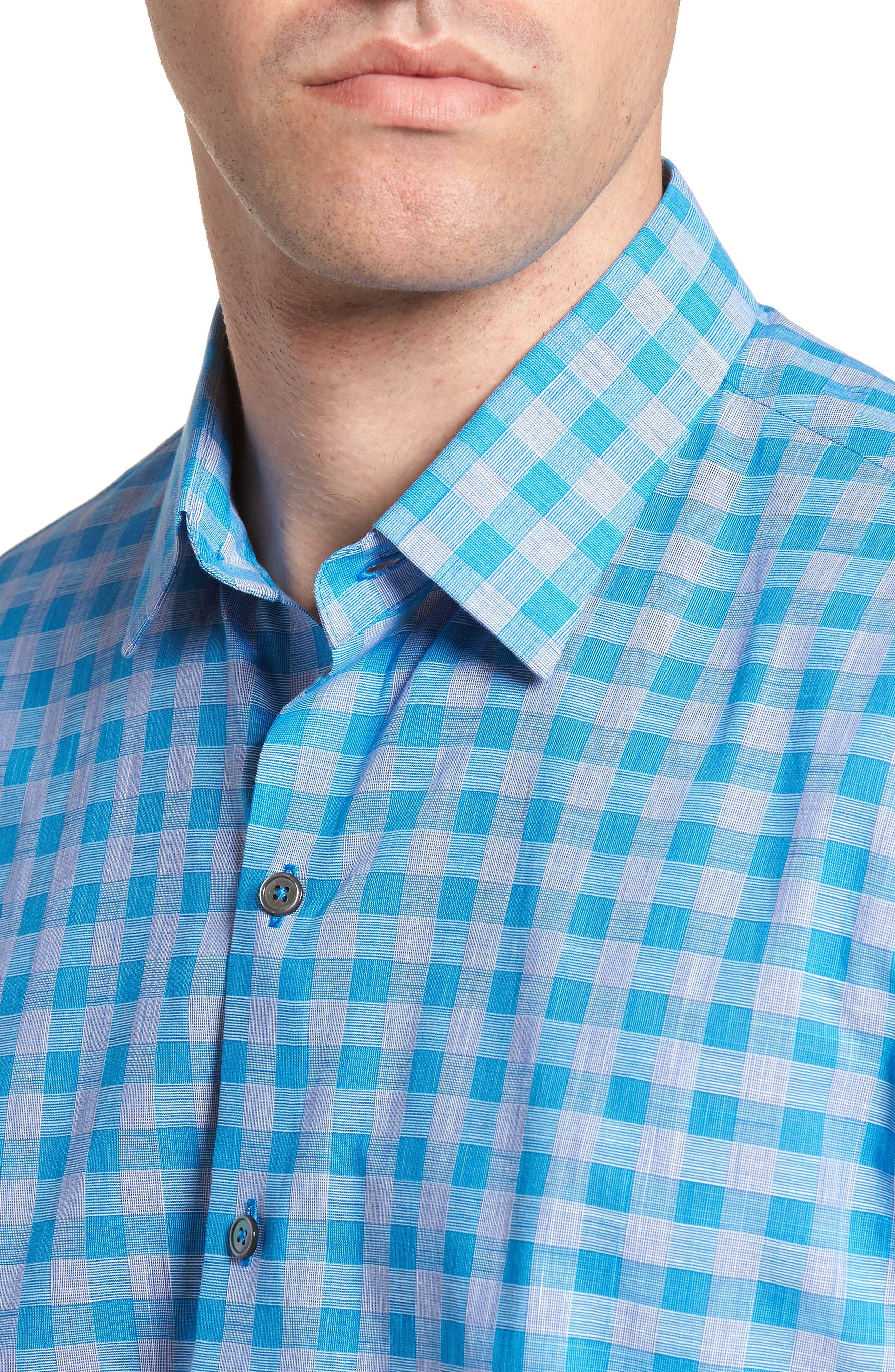 Ruder Regular Fit Check Sport Shirt,                             Alternate thumbnail 4, color,                             430