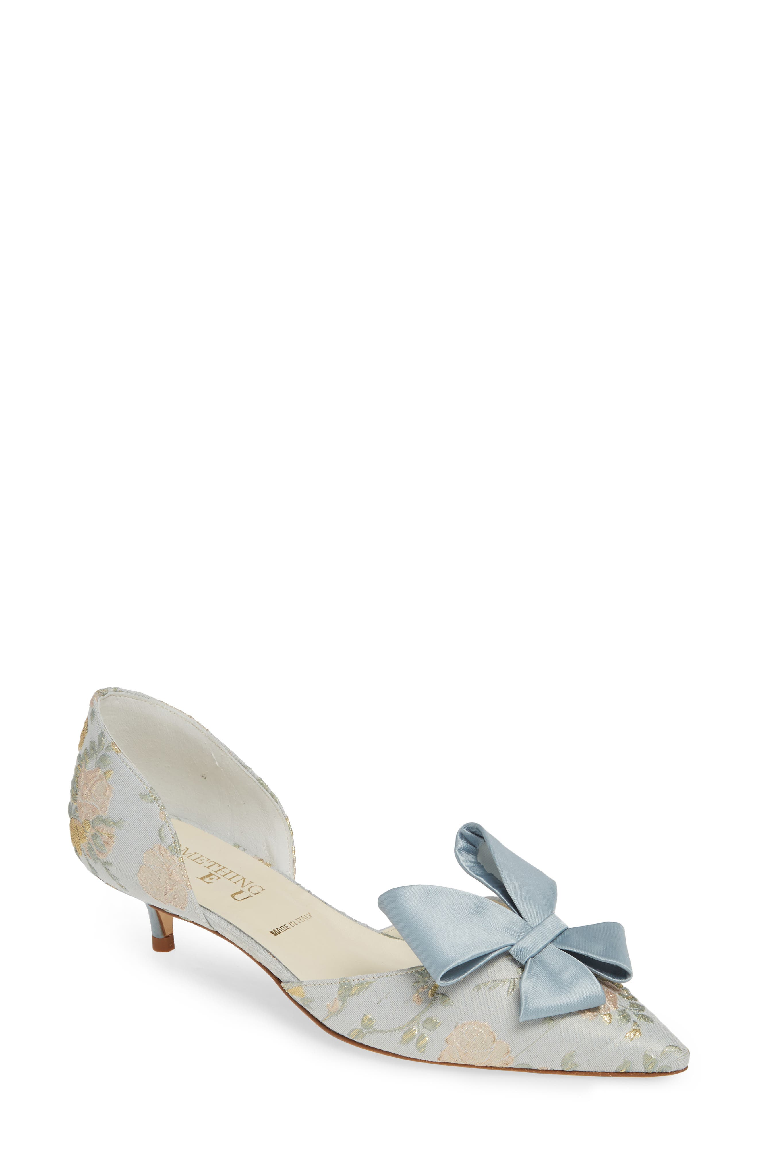 SOMETHING BLEU Cliff Bow d'Orsay Pump, Main, color, PEARL BLUE ROMANCE