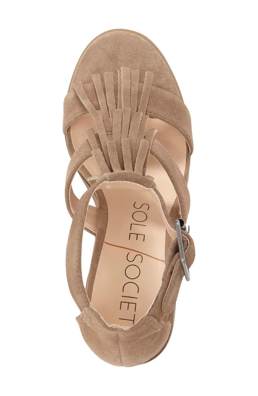 'Delilah' Fringe Sandal,                             Alternate thumbnail 22, color,