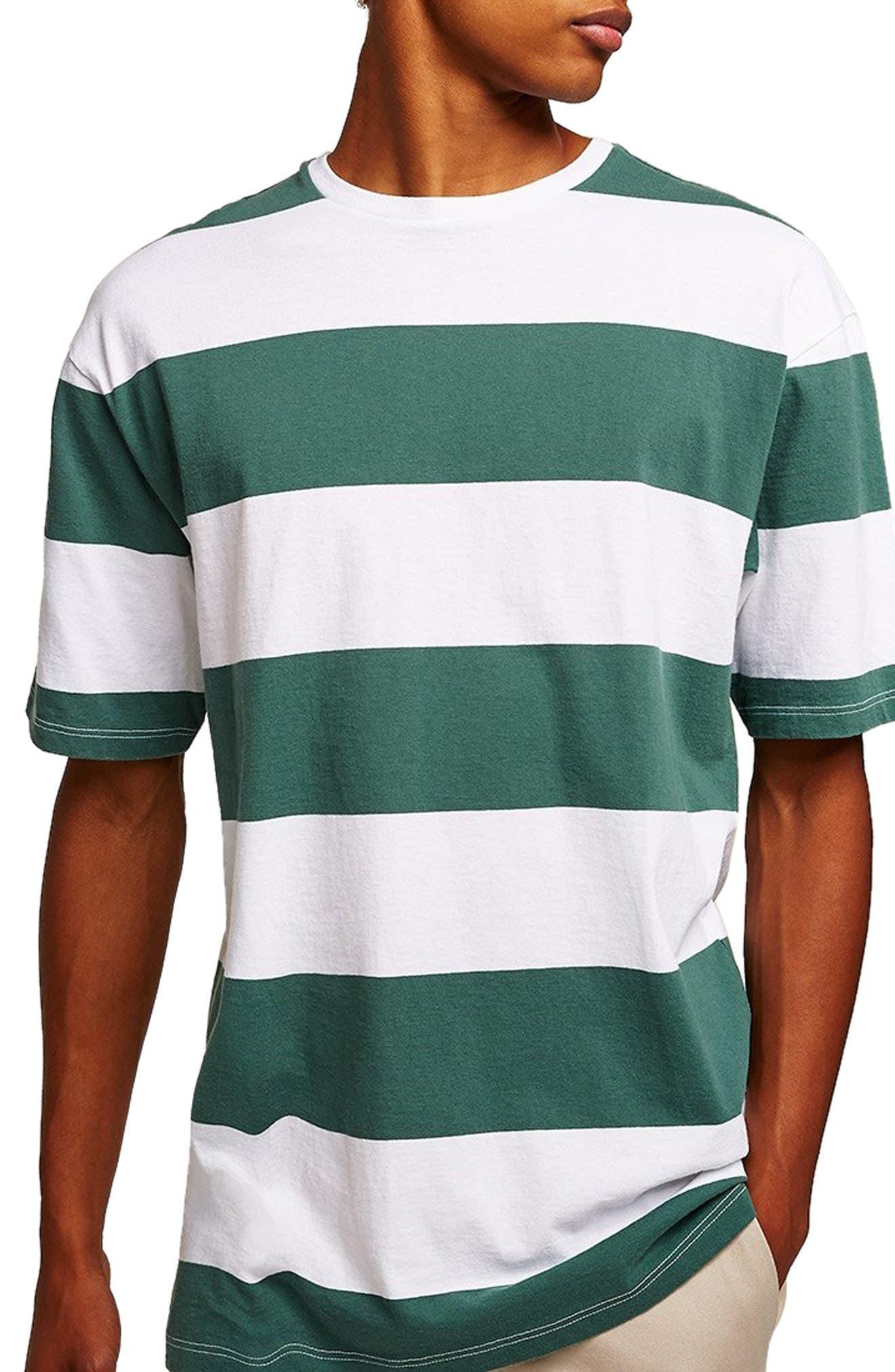 Wide Stripe Classic Fit T-Shirt,                         Main,                         color, GREEN MULTI