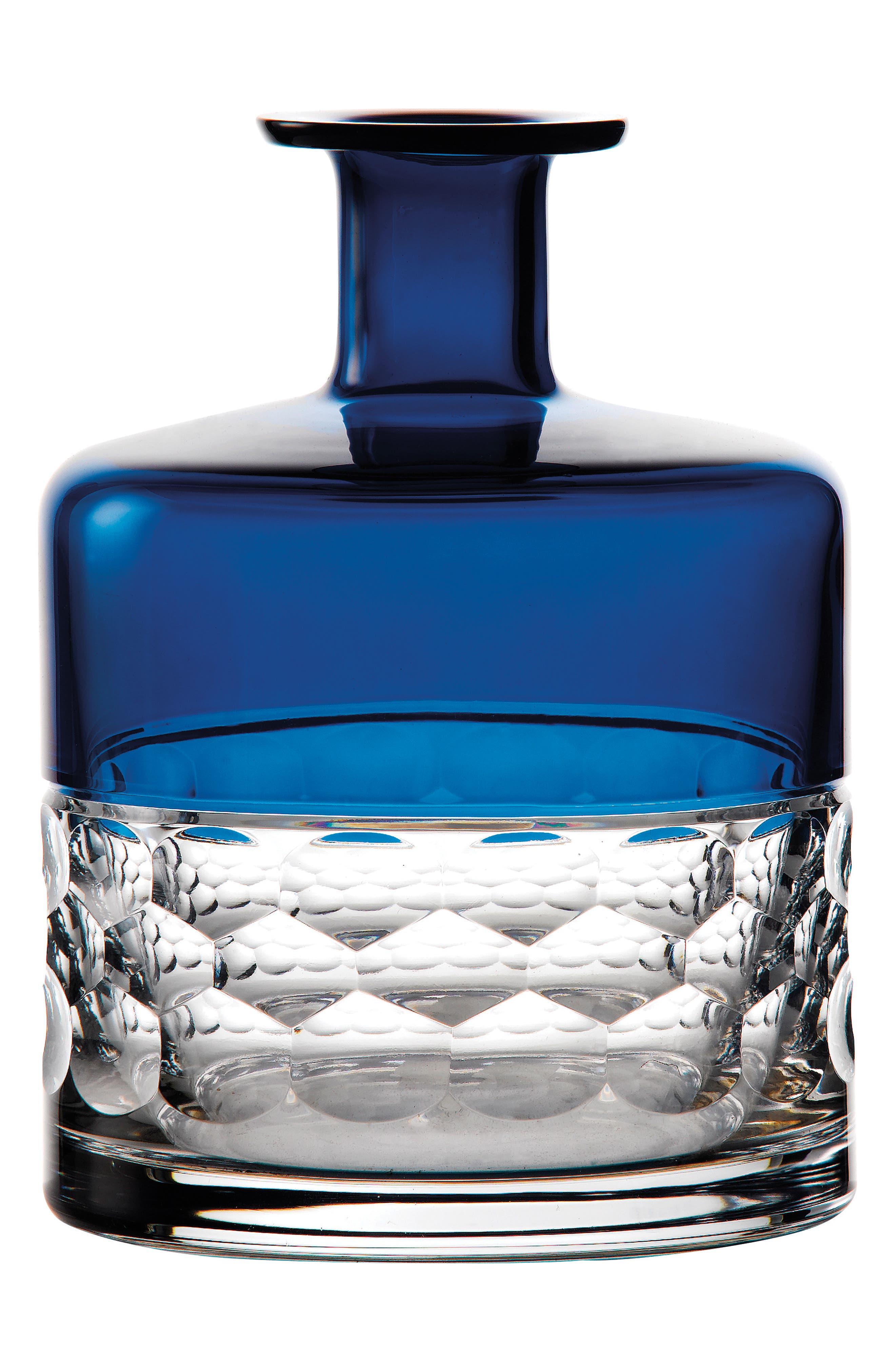 Jo Sampson Half & Half Azure Lead Crystal Vase,                         Main,                         color, 100