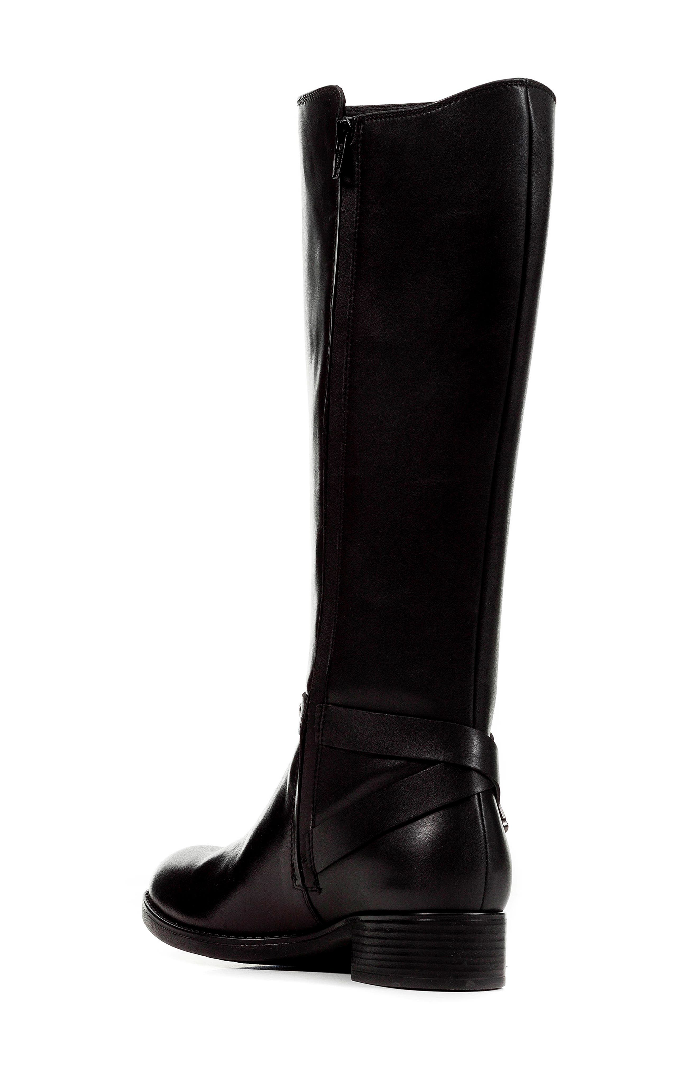 Felicity ABX Waterproof Knee High Riding Boot,                             Alternate thumbnail 2, color,                             BLACK LEATHER