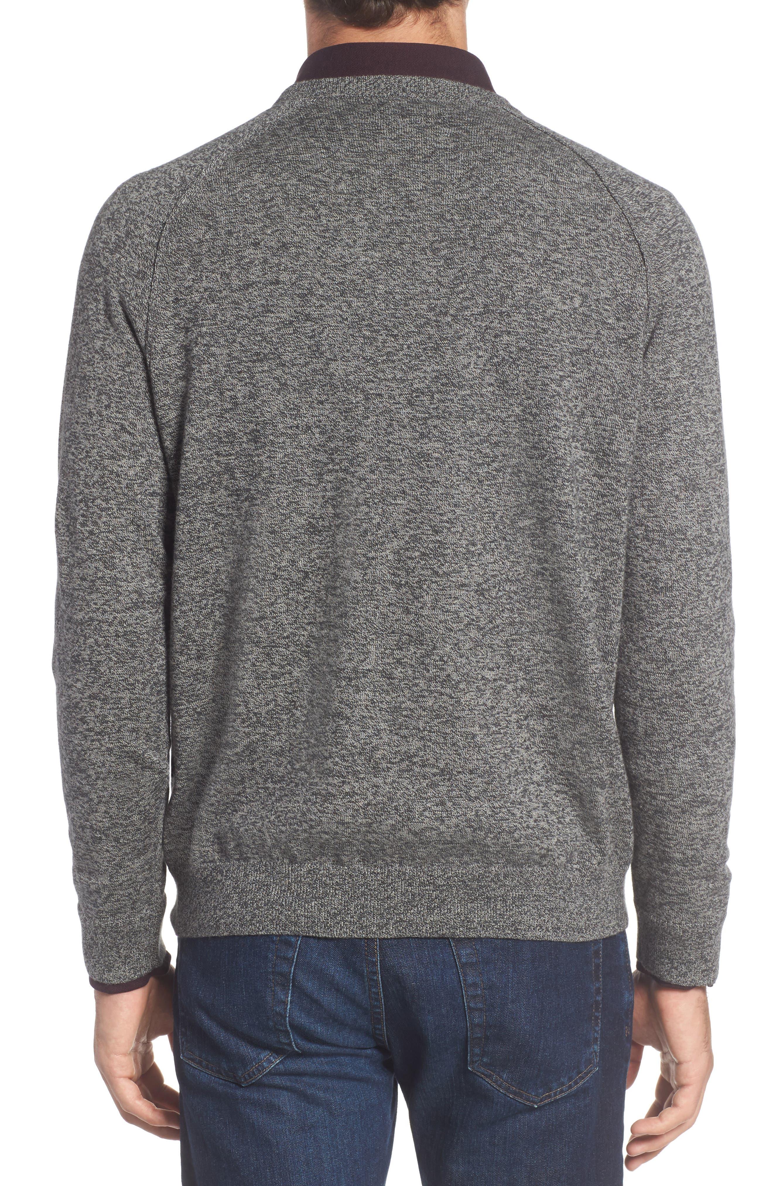 Saddle Shoulder Cotton & Cashmere V-Neck Sweater,                             Alternate thumbnail 10, color,