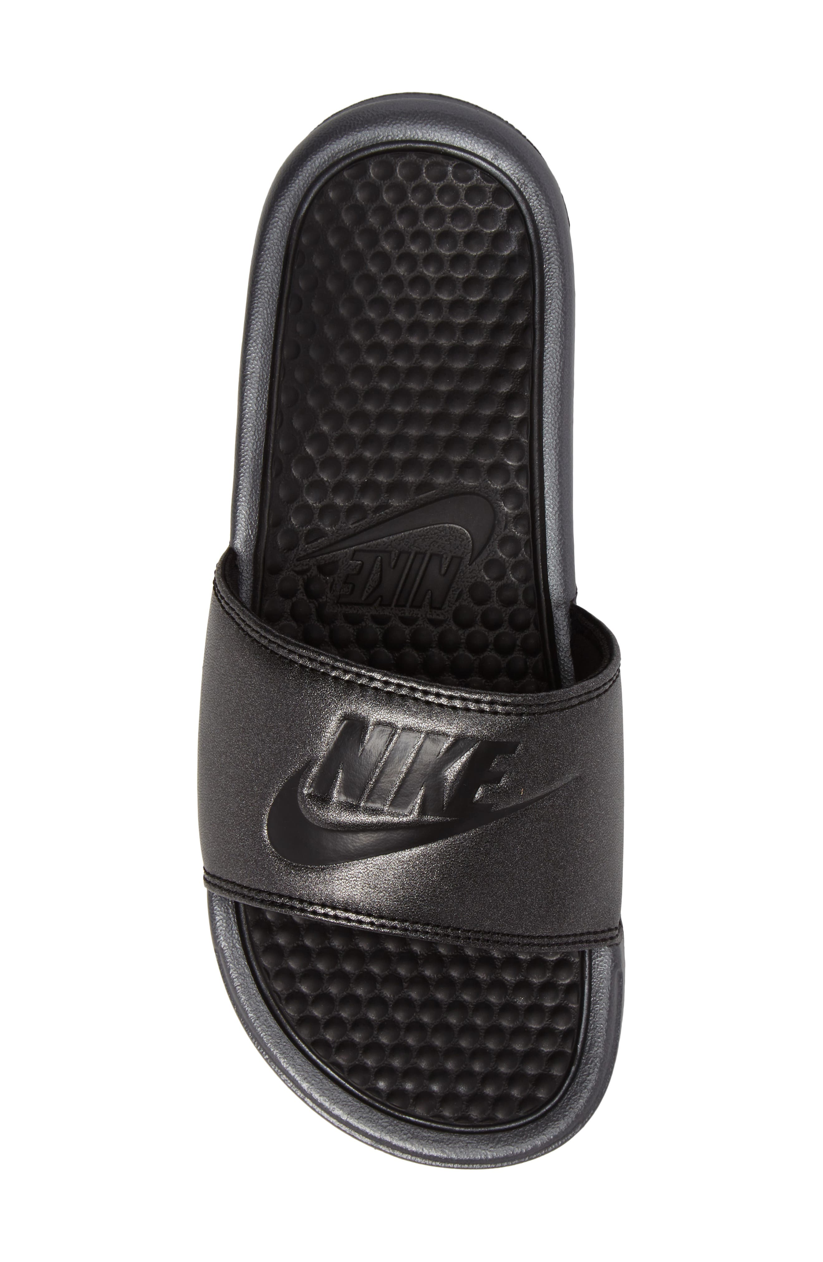 Benassi Slide Sandal,                             Alternate thumbnail 5, color,                             001